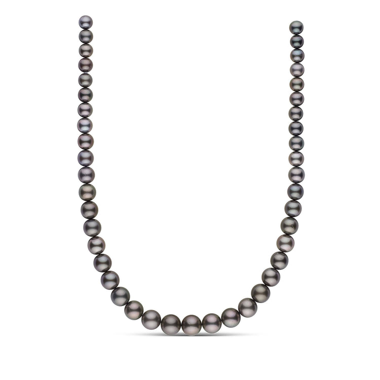 8.1-11.8 mm AA+ Round Tahitian Pearl Necklace
