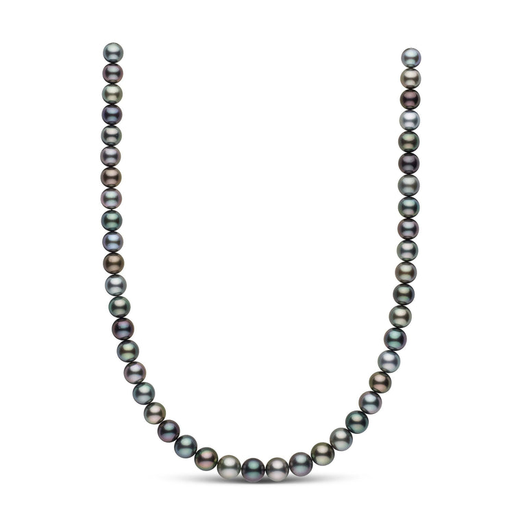 8.3-9.9 mm AAA Multicolor Round Tahitian Pearl Necklace