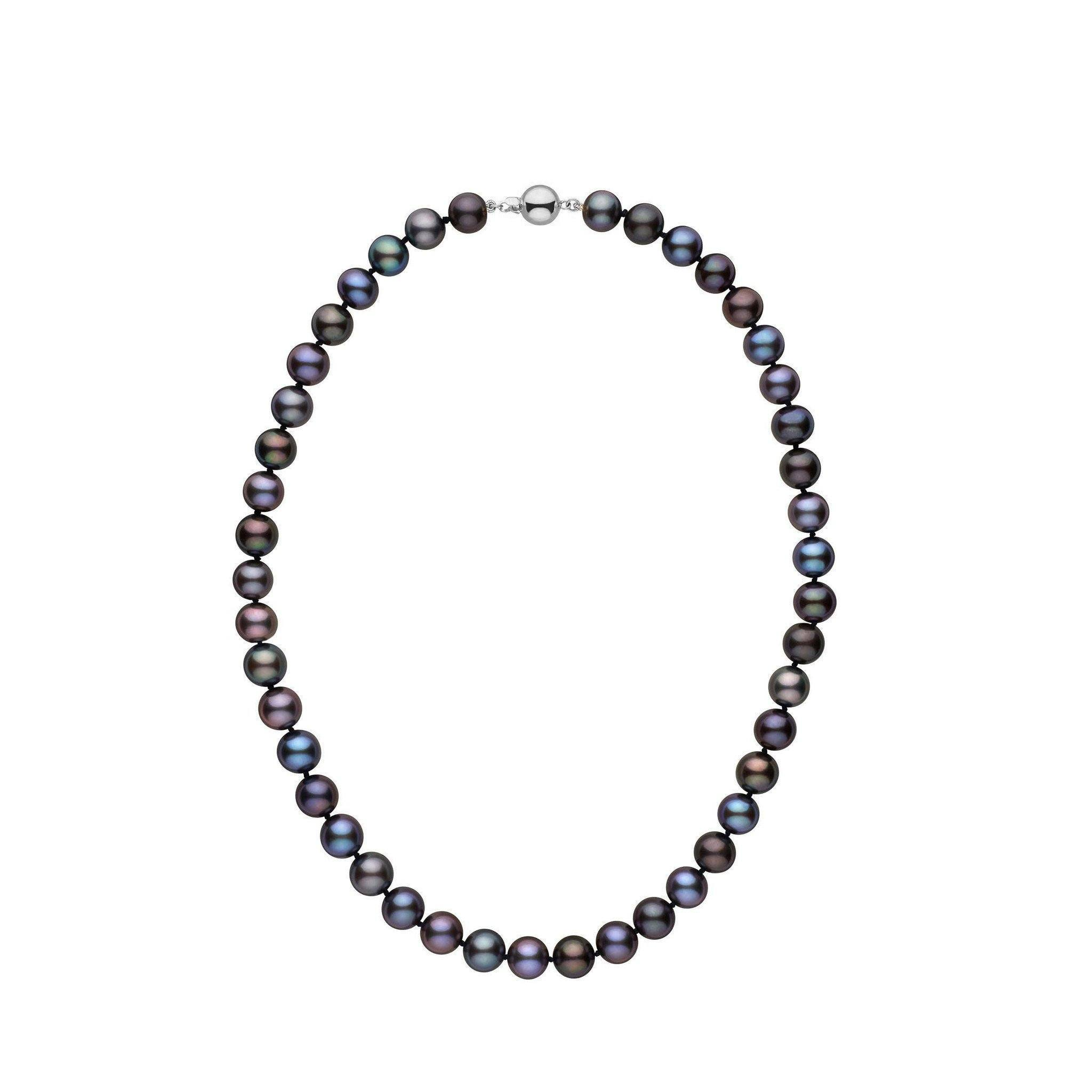8.5-9.0 mm 16 Inch AA+ Black Freshwater Pearl Necklace