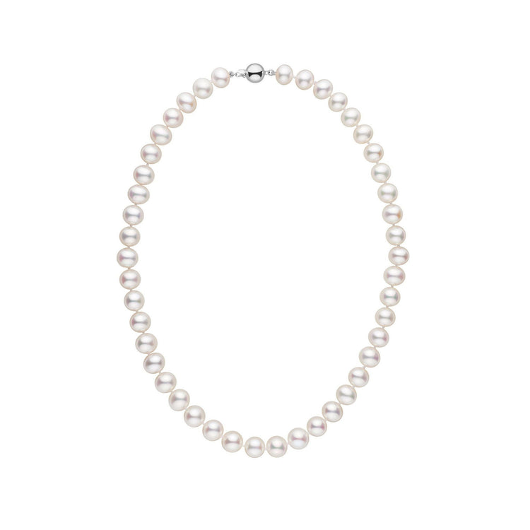8.5-9.0 mm 16 Inch AA+ White Freshwater Pearl Necklace