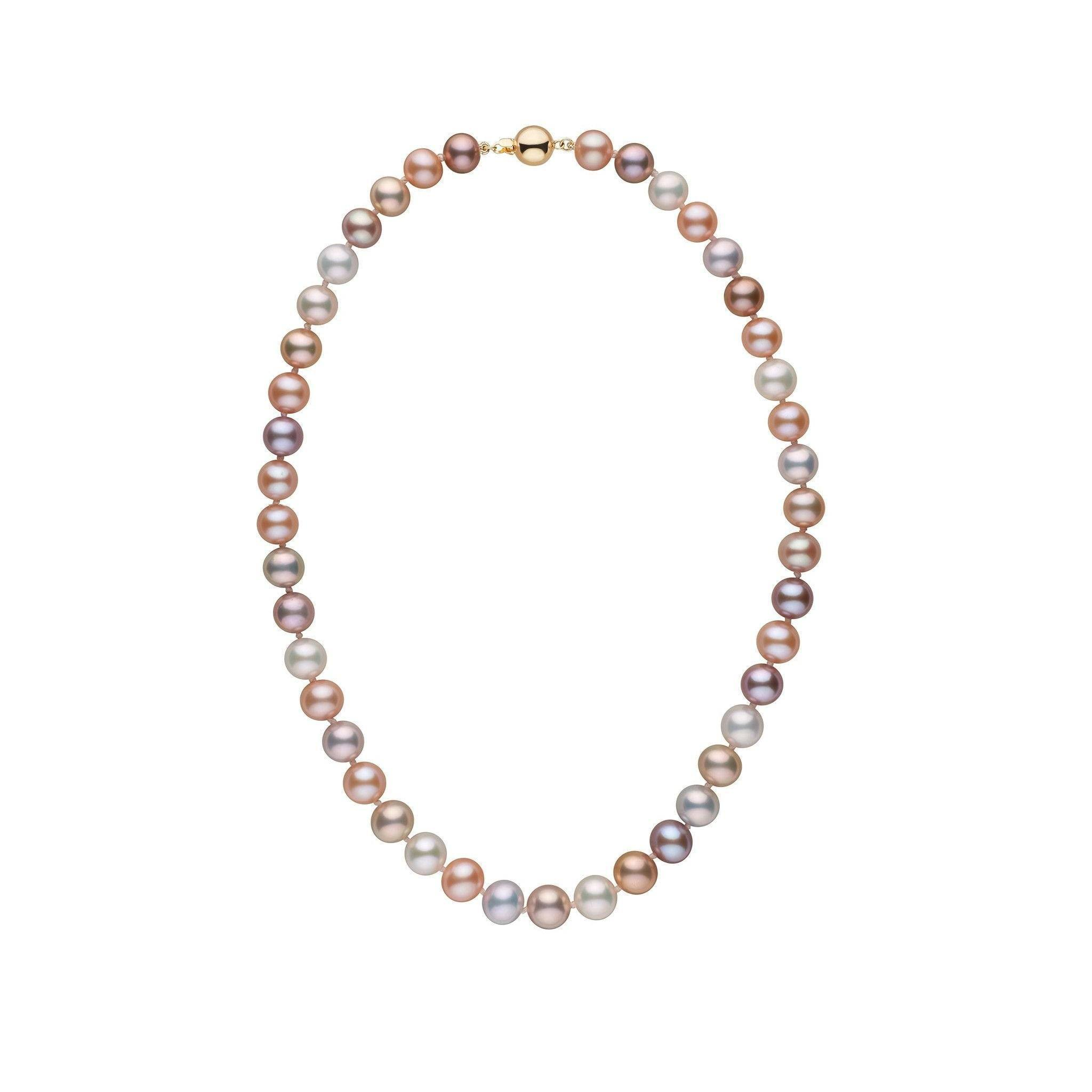 8.5-9.0 mm 16 Inch AAA Multicolor Freshwater Pearl Necklace