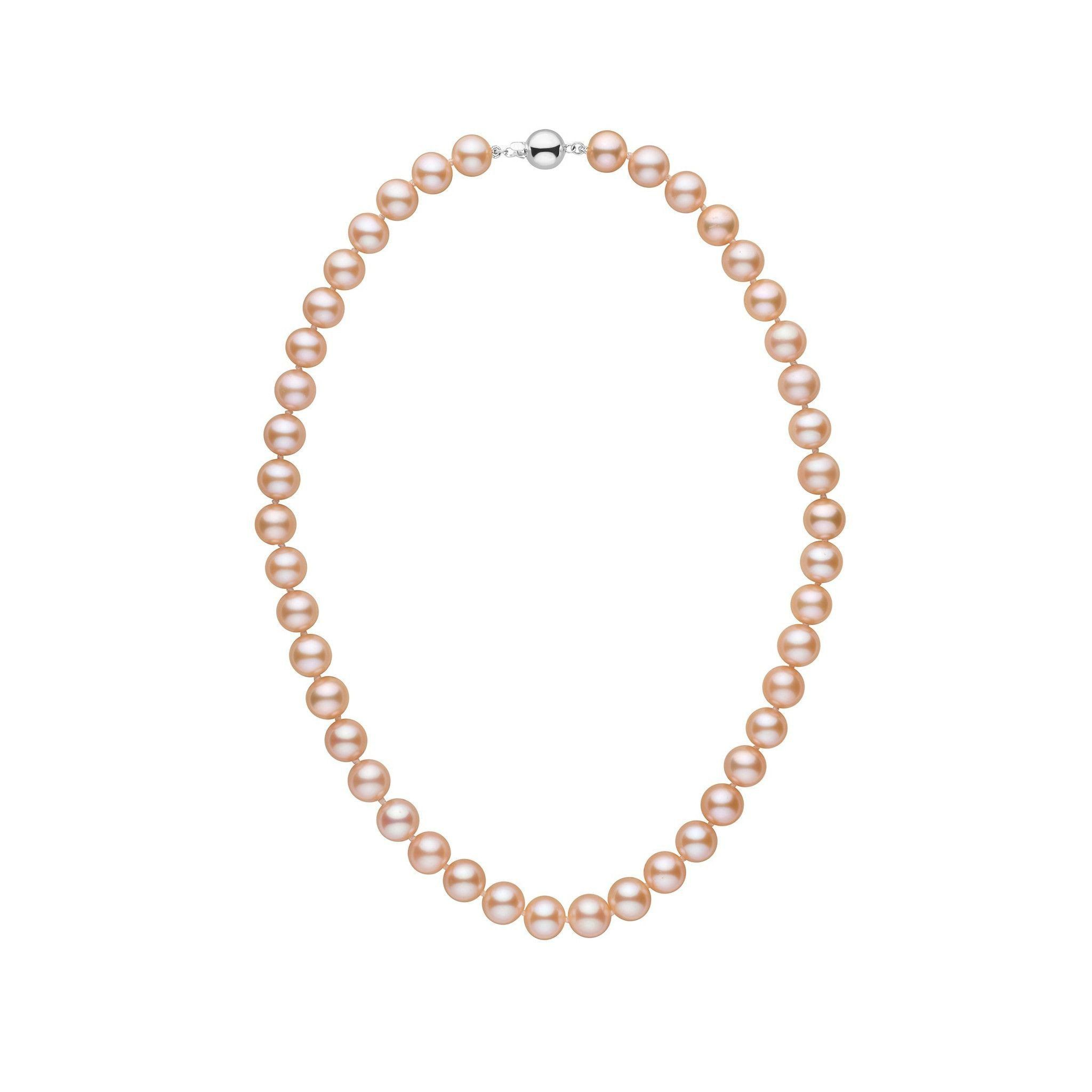 8.5-9.0 mm 16 Inch AAA Pink to Peach Freshwater Pearl Necklace