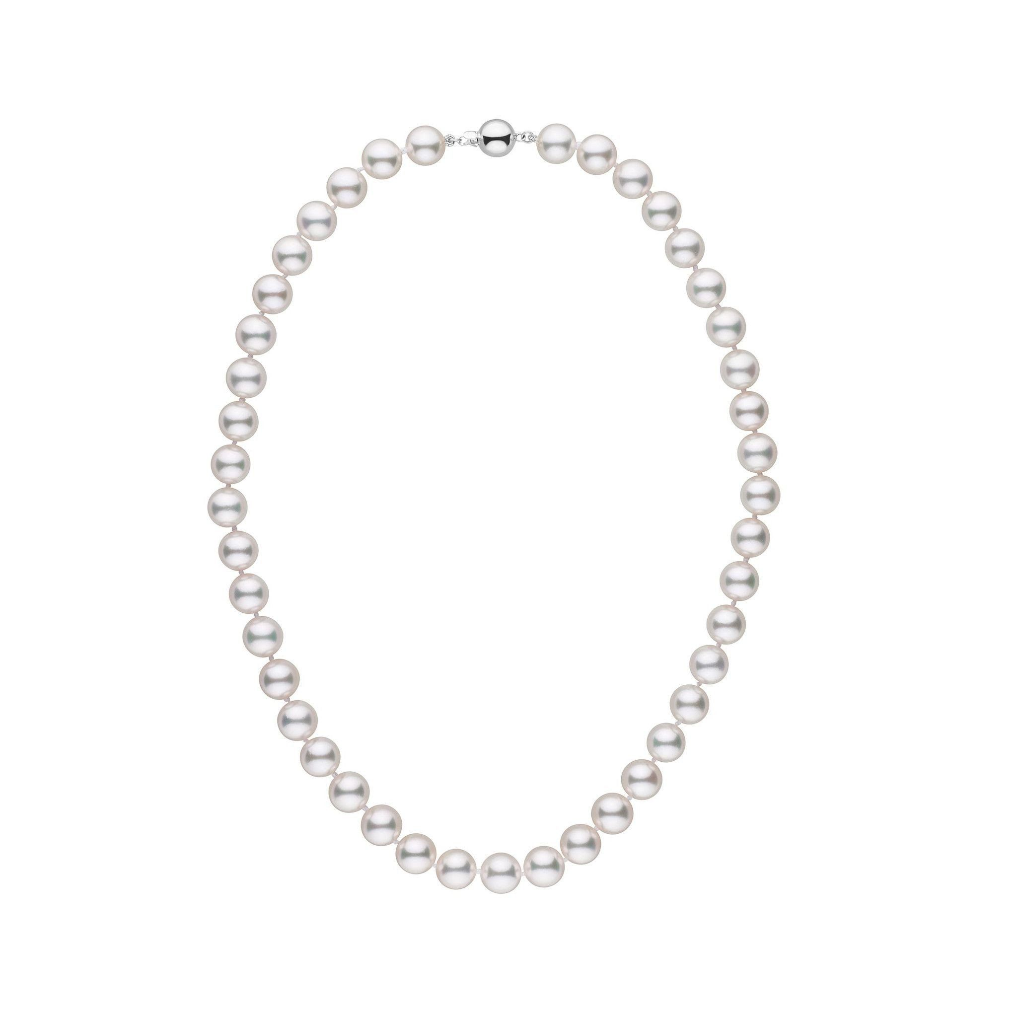 8.5-9.0 mm 16 Inch AAA White Akoya Pearl Necklace