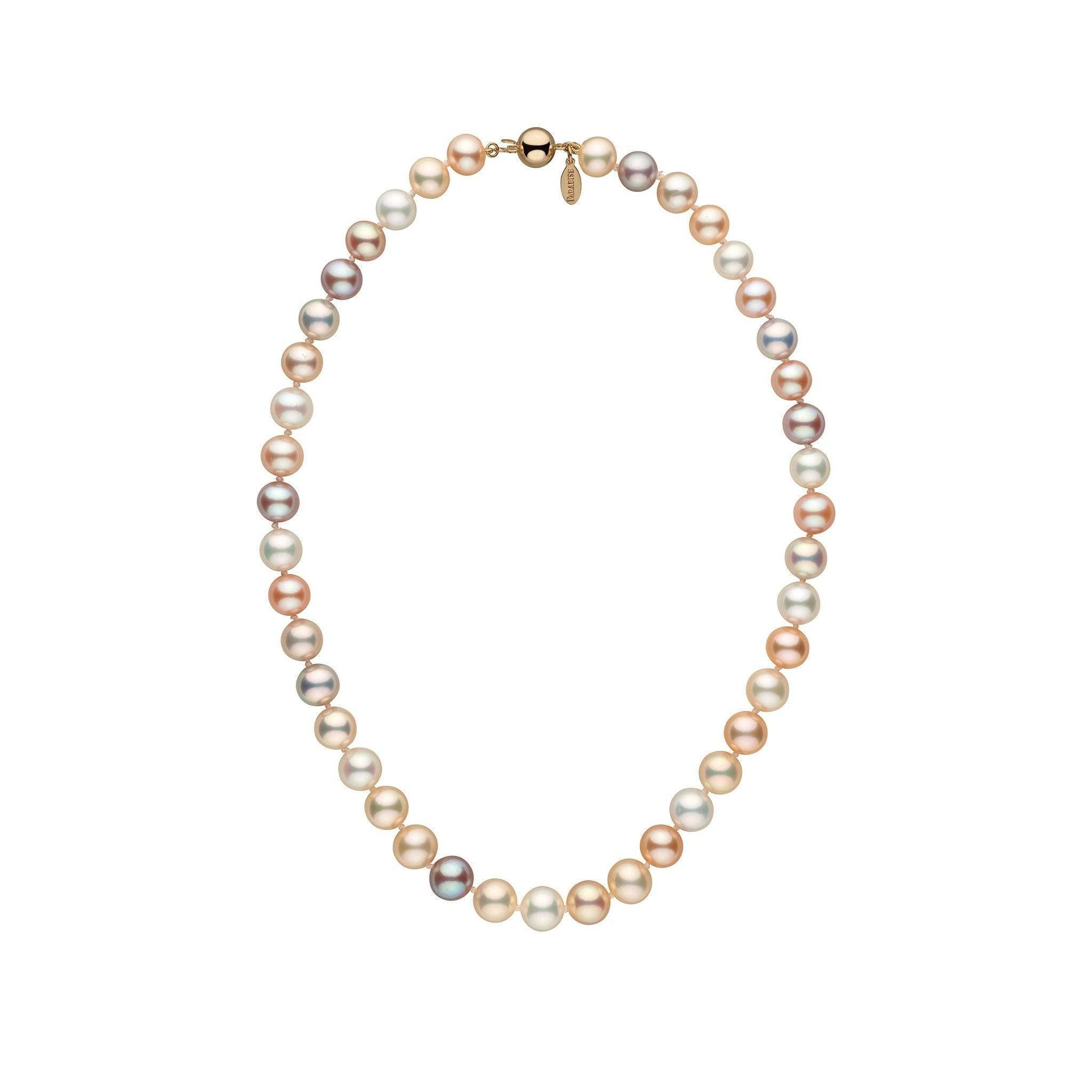 8.5-9.0 mm 16 inch Multicolor Freshadama Freshwater Pearl Necklace