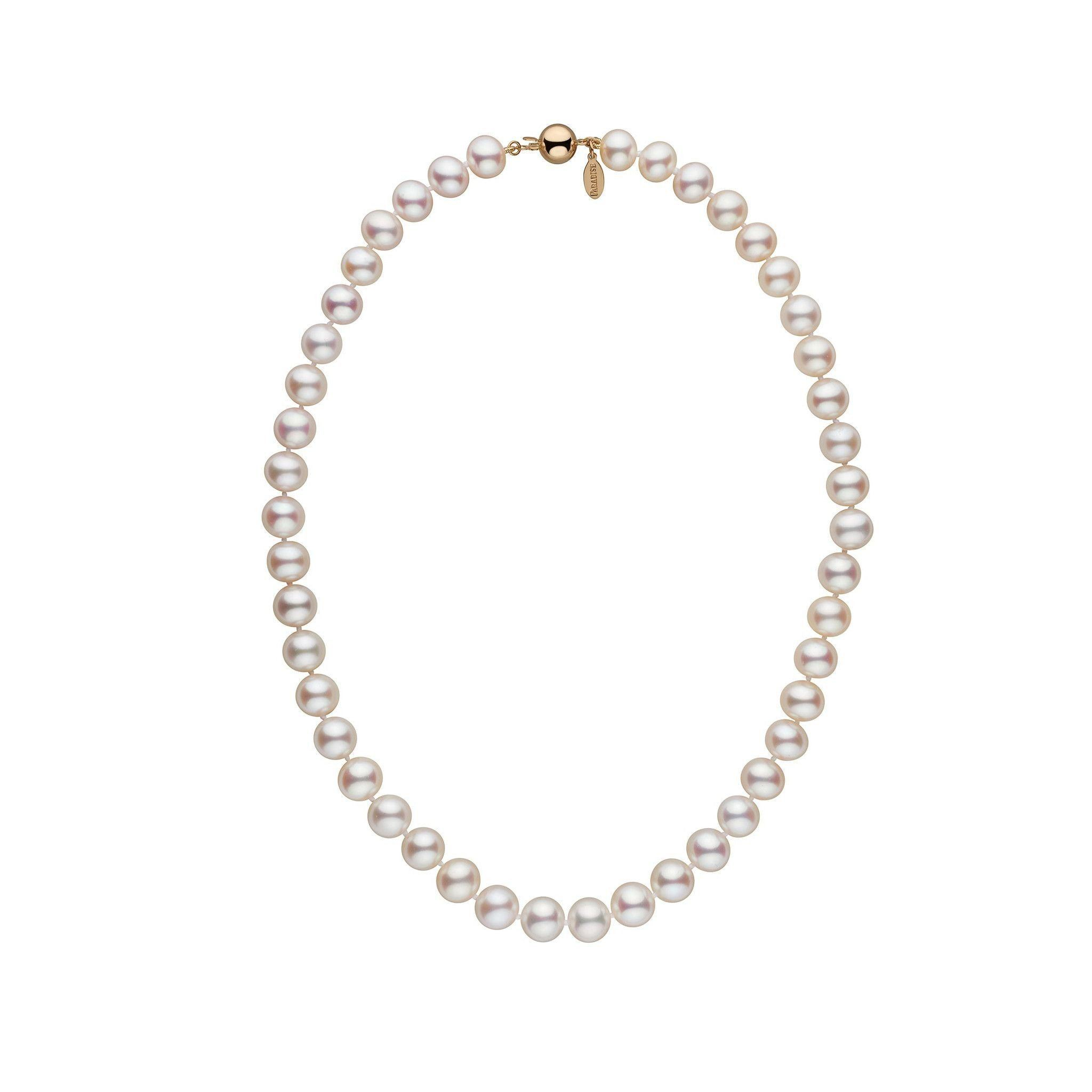 8.5-9.0 mm 16 Inch White Freshadama Freshwater Pearl Necklace
