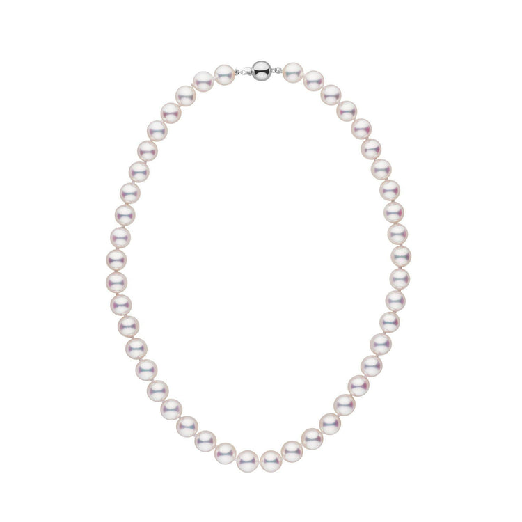 8.5-9.0 mm 16 inch White Hanadama Akoya Pearl Necklace