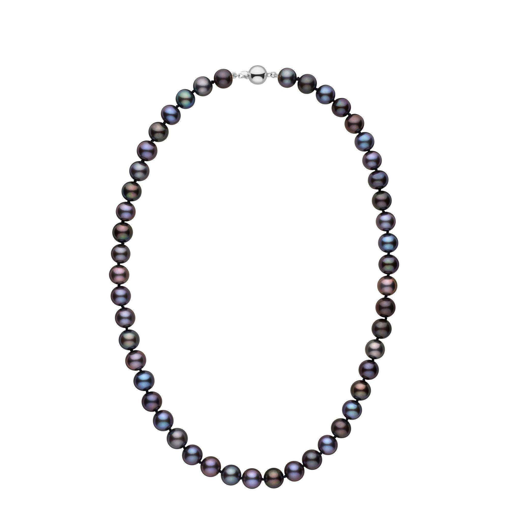8.5-9.0 mm 18 Inch AA+ Black Freshwater Pearl Necklace