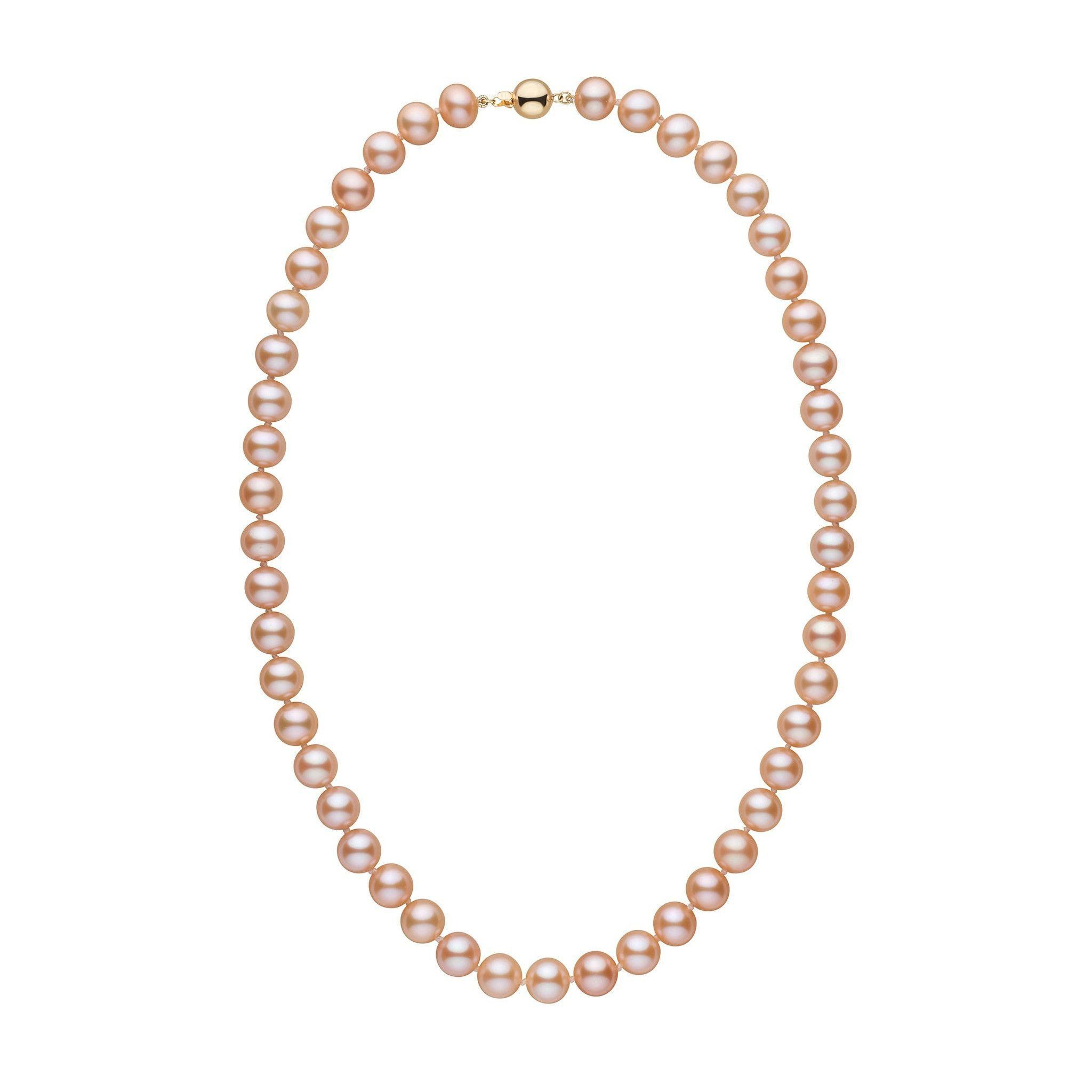 8.5-9.0 mm 18 Inch AA+ Pink to Peach Freshwater Pearl Necklace