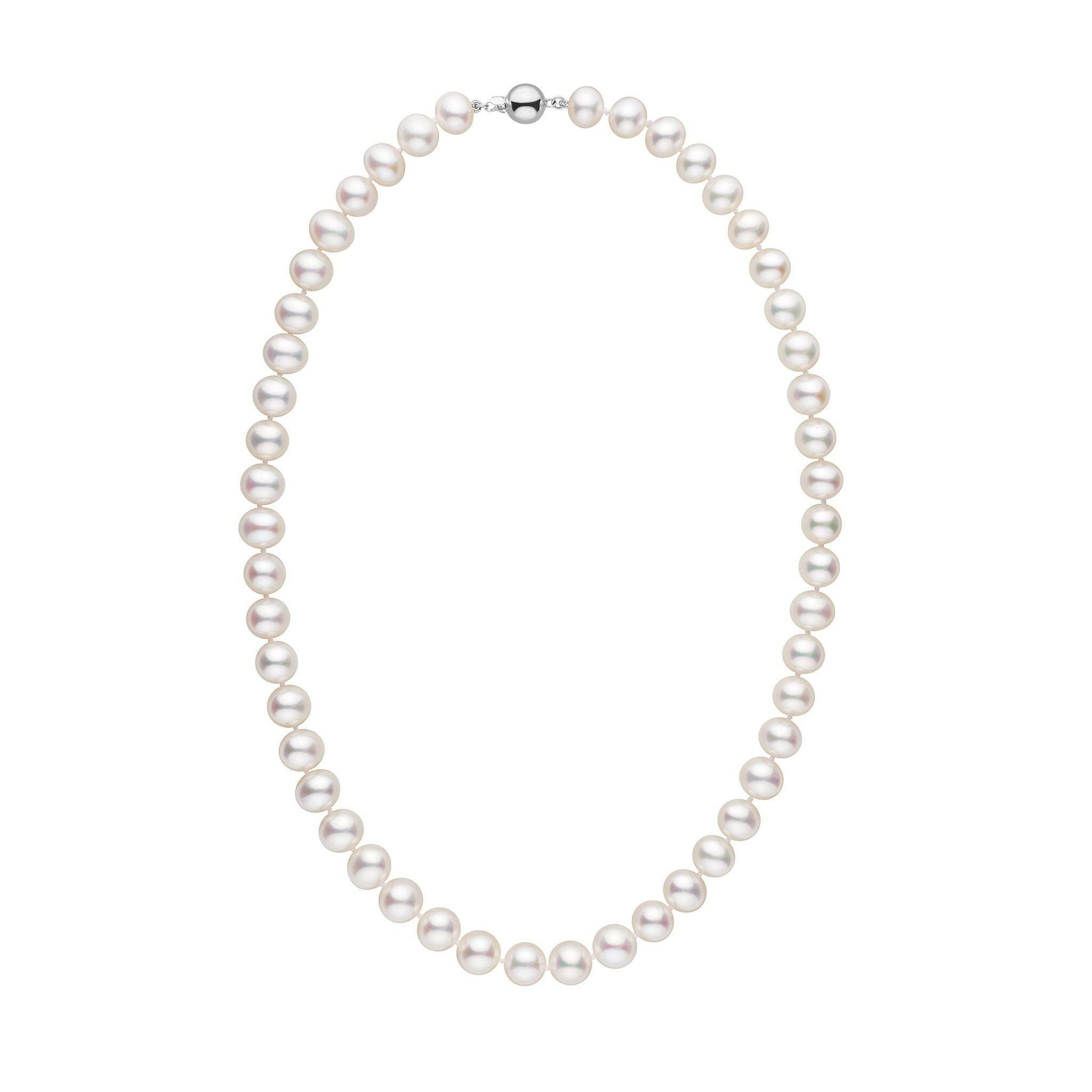 8.5-9.0 mm 18 Inch AA+ White Freshwater Pearl Necklace