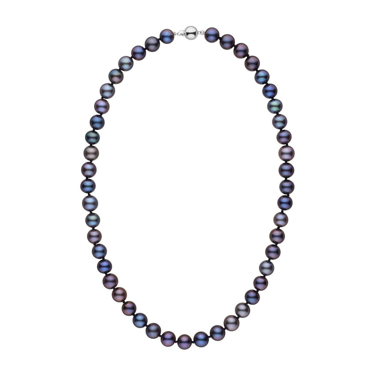 8.5-9.0 mm 18 Inch AAA Black Freshwater Pearl Necklace