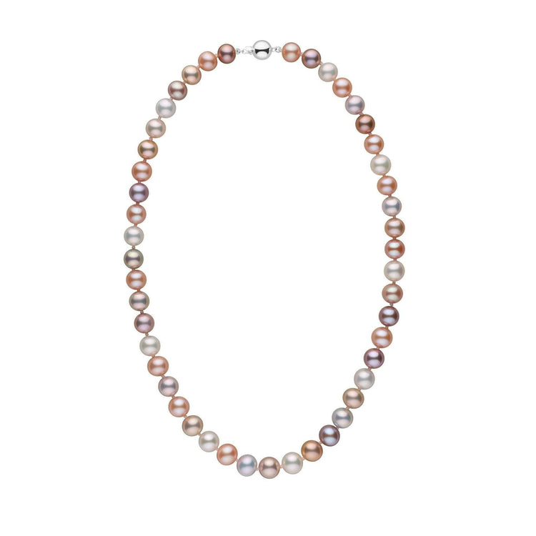 8.5-9.0 mm 18 Inch AAA Multicolor Freshwater Pearl Necklace