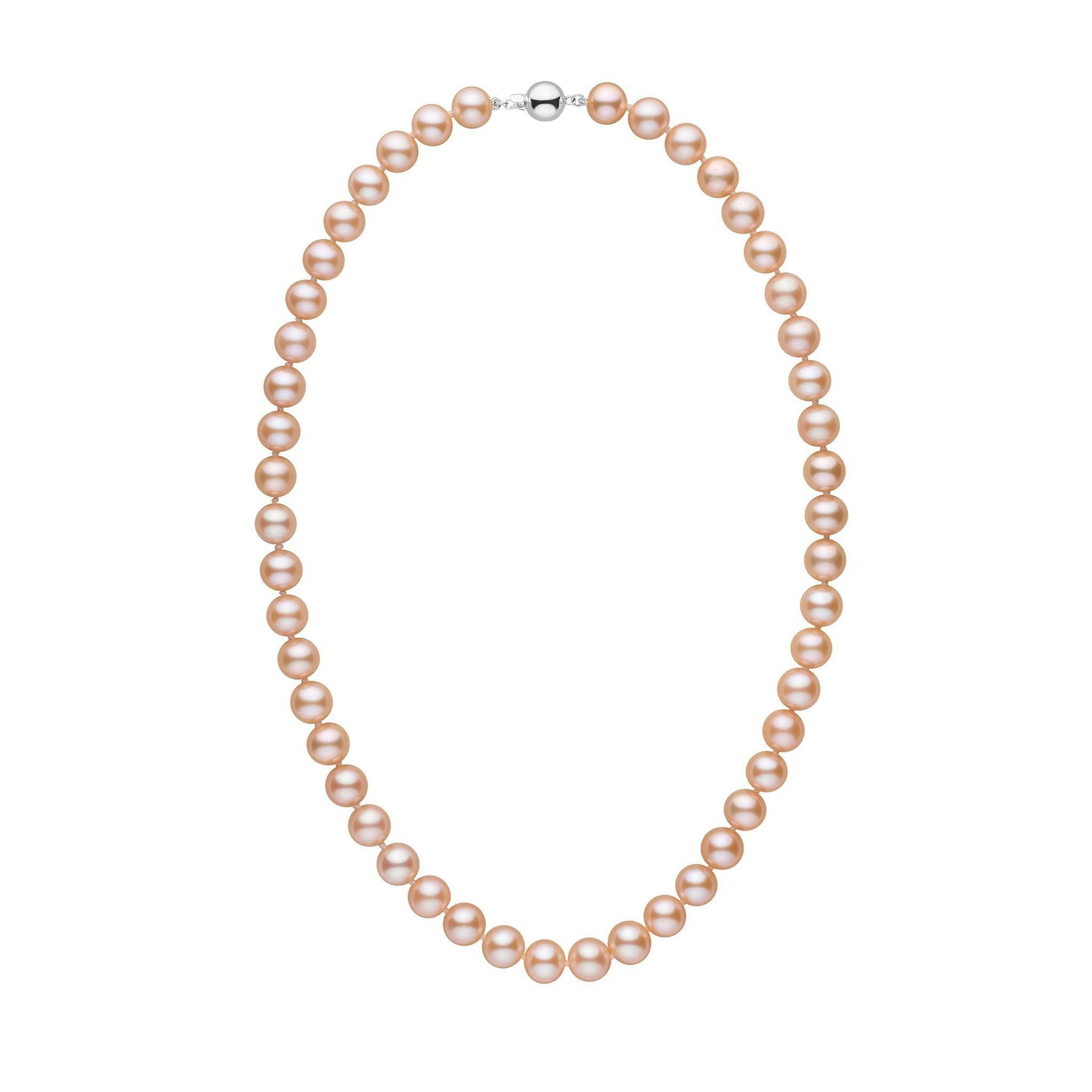 8.5-9.0 mm 18 Inch AAA Pink to Peach Freshwater Pearl Necklace