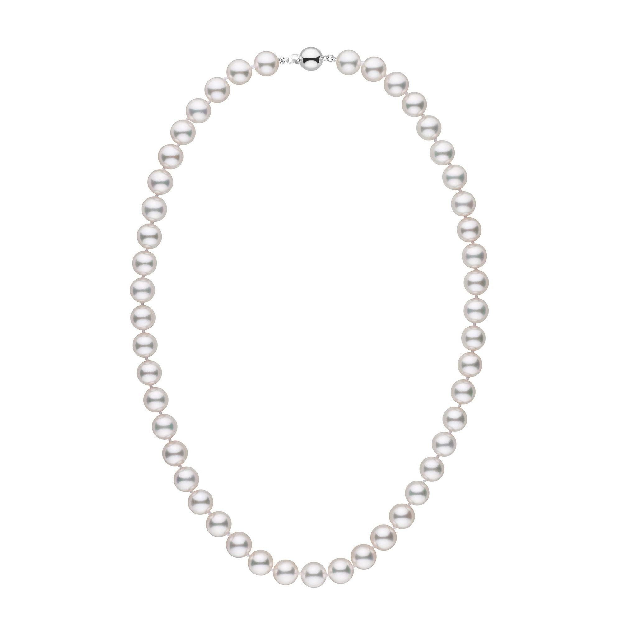 8.5-9.0 mm 18 inch AAA White Akoya Pearl Necklace