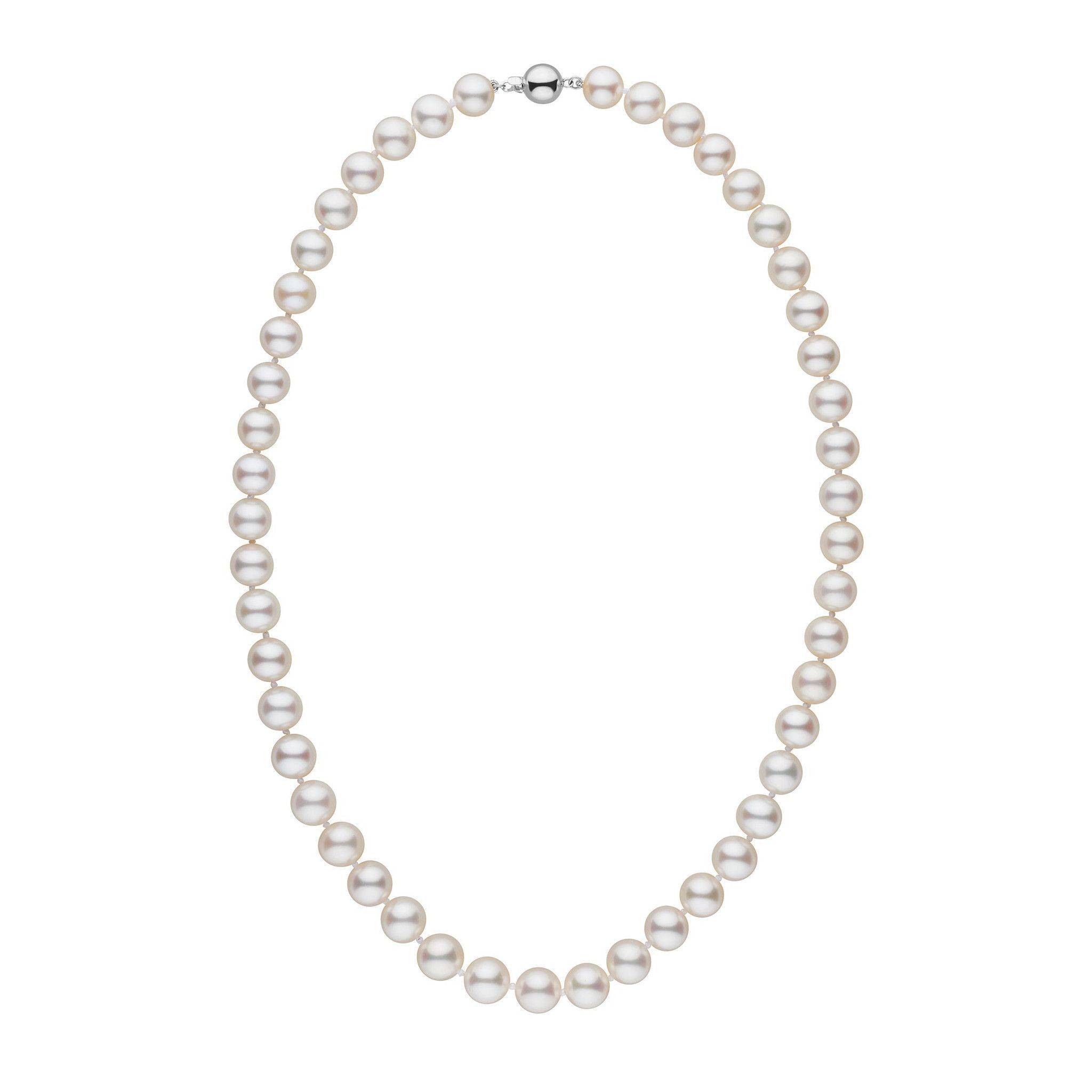 8.5-9.0 mm 18 Inch AAA White Freshwater Pearl Necklace