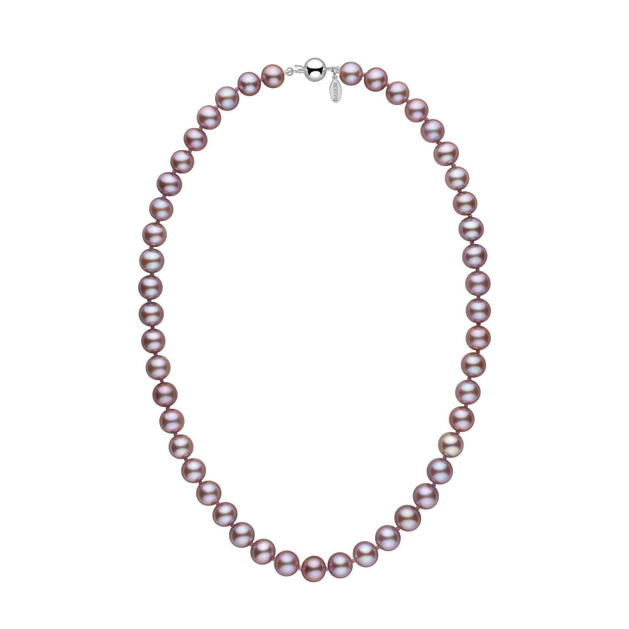 8.5-9.0 mm 18 Inch Lavender Freshadama Freshwater Pearl Necklace