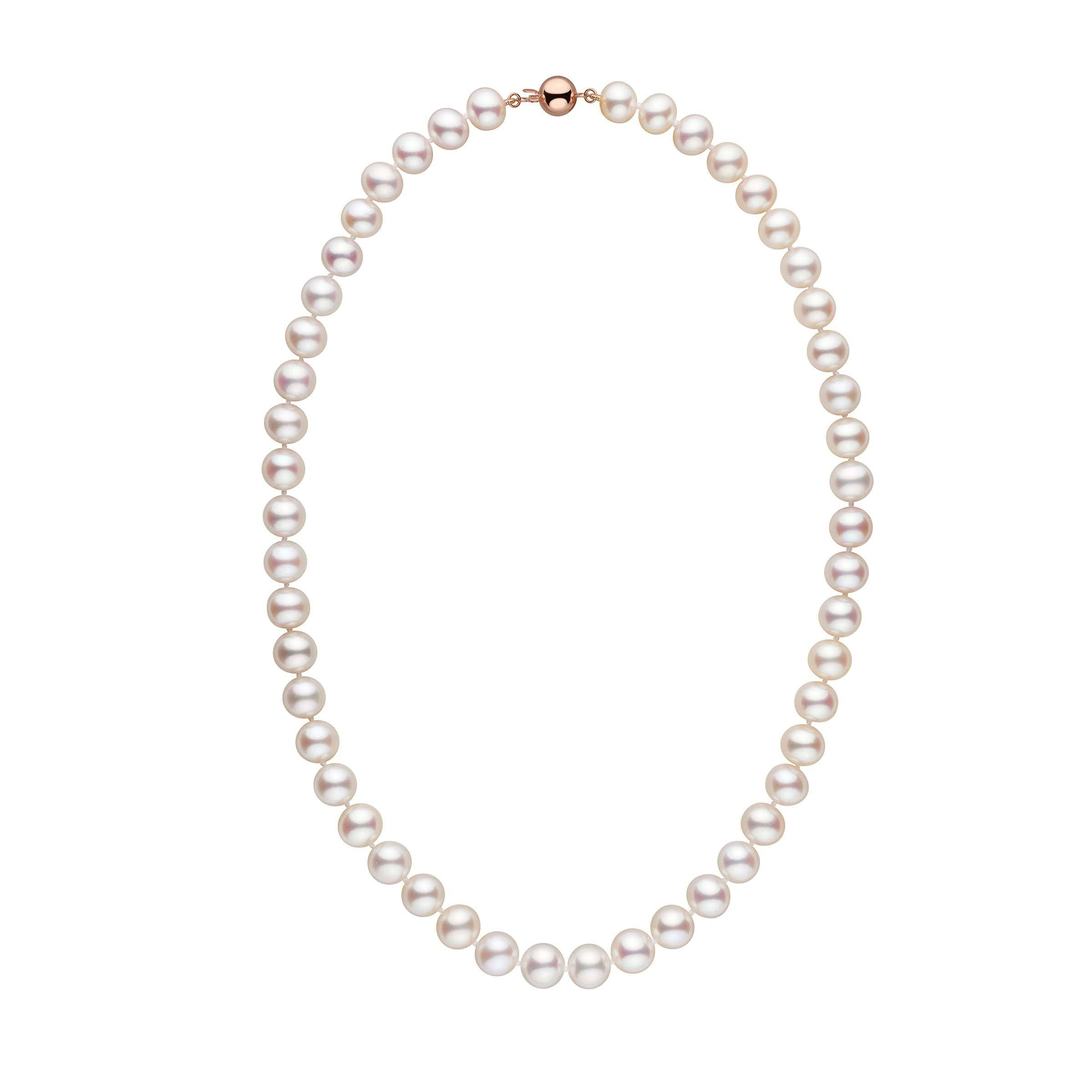 8.5-9.0 mm 18 Inch White Freshadama Freshwater Pearl Necklace
