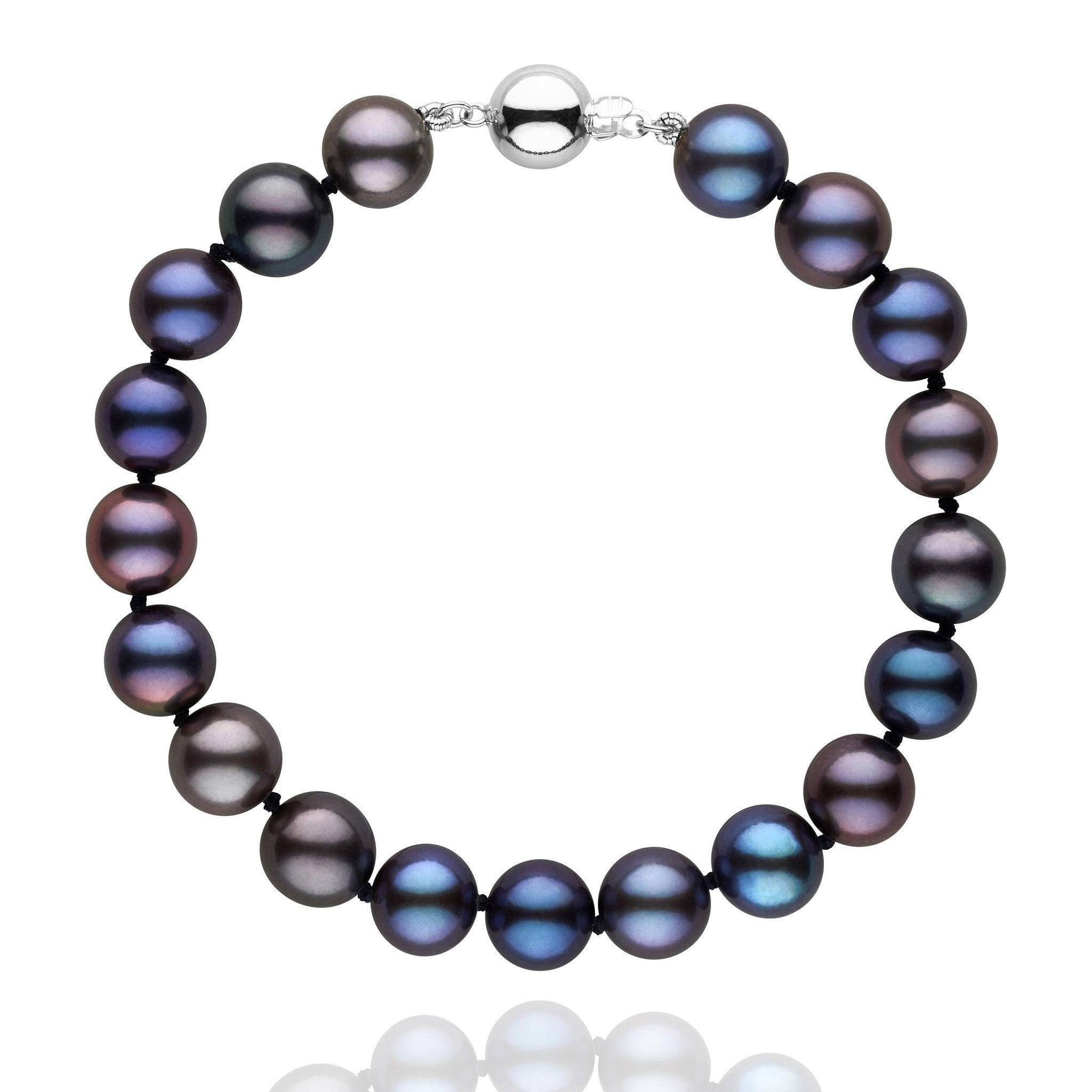 com collections adjustable silver pearl in pearls bracelet bracelets freshwater sterling black