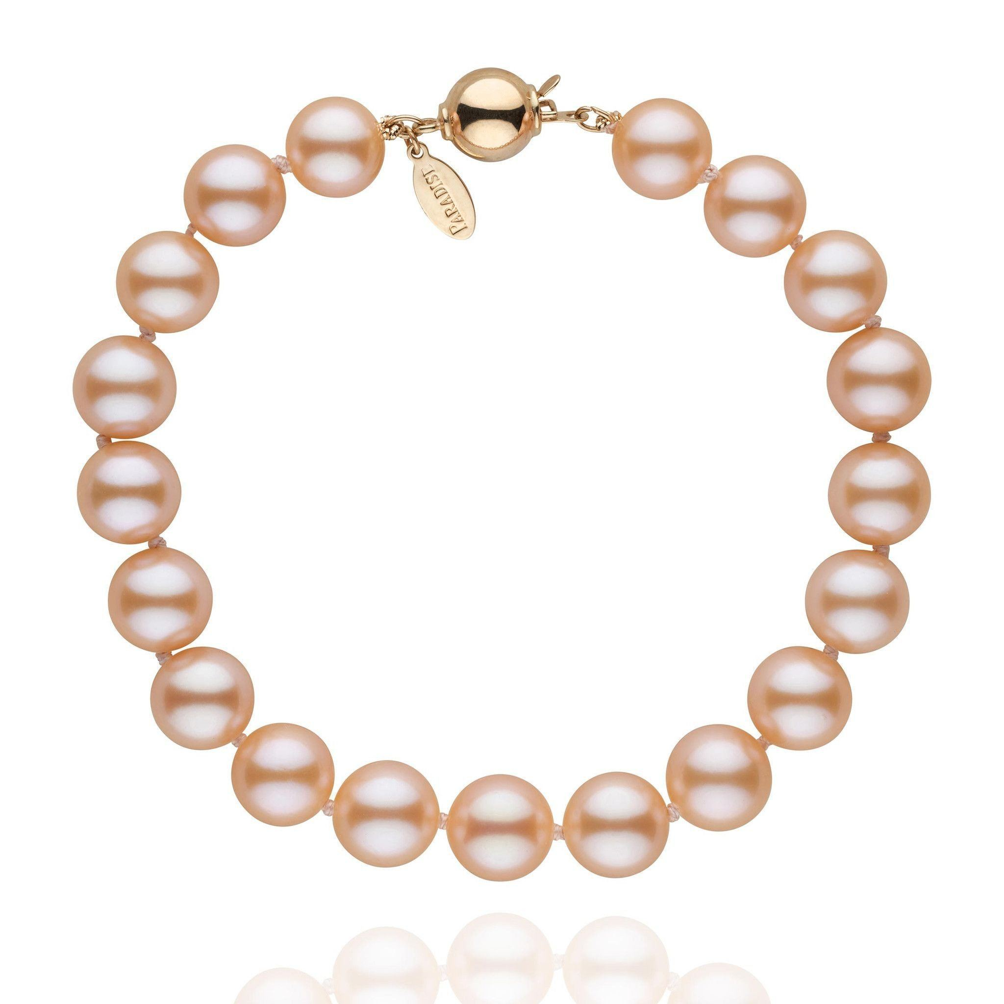 8.5-9.0 mm Pink to Peach Freshadama Pearl Bracelet