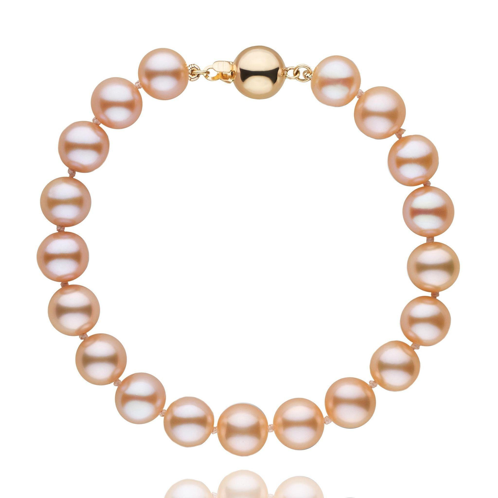 8.5-9.0 mm Pink to Peach Freshwater AAA Pearl Bracelet