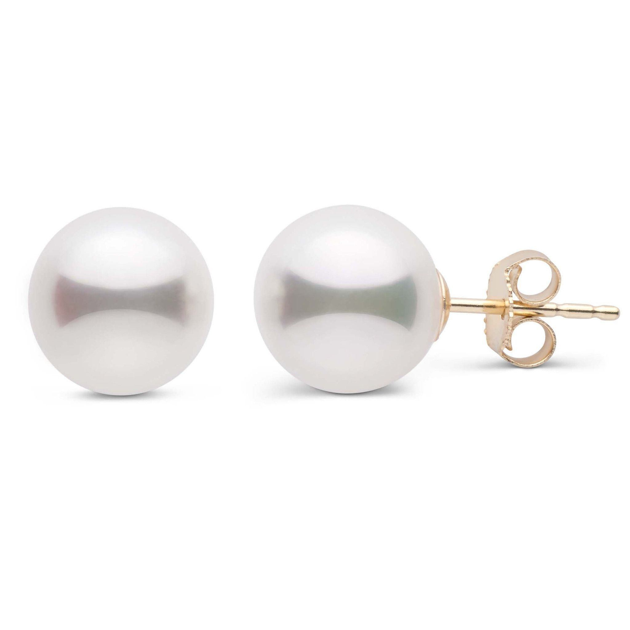 8.5-9.0 mm White Akoya AA+ Pearl Stud Earrings