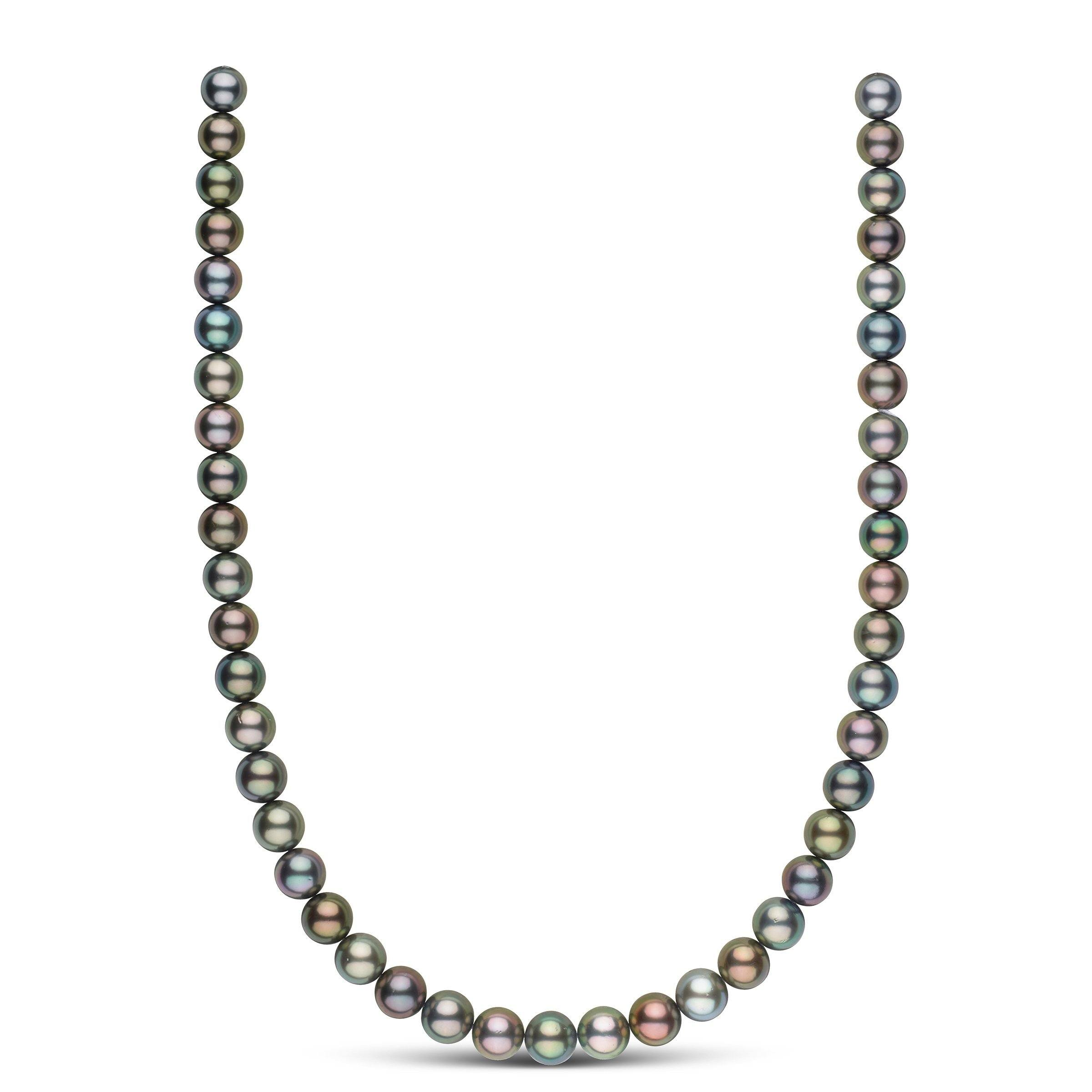 8.5-9.9 mm Round Multicolor Tahitian Necklace
