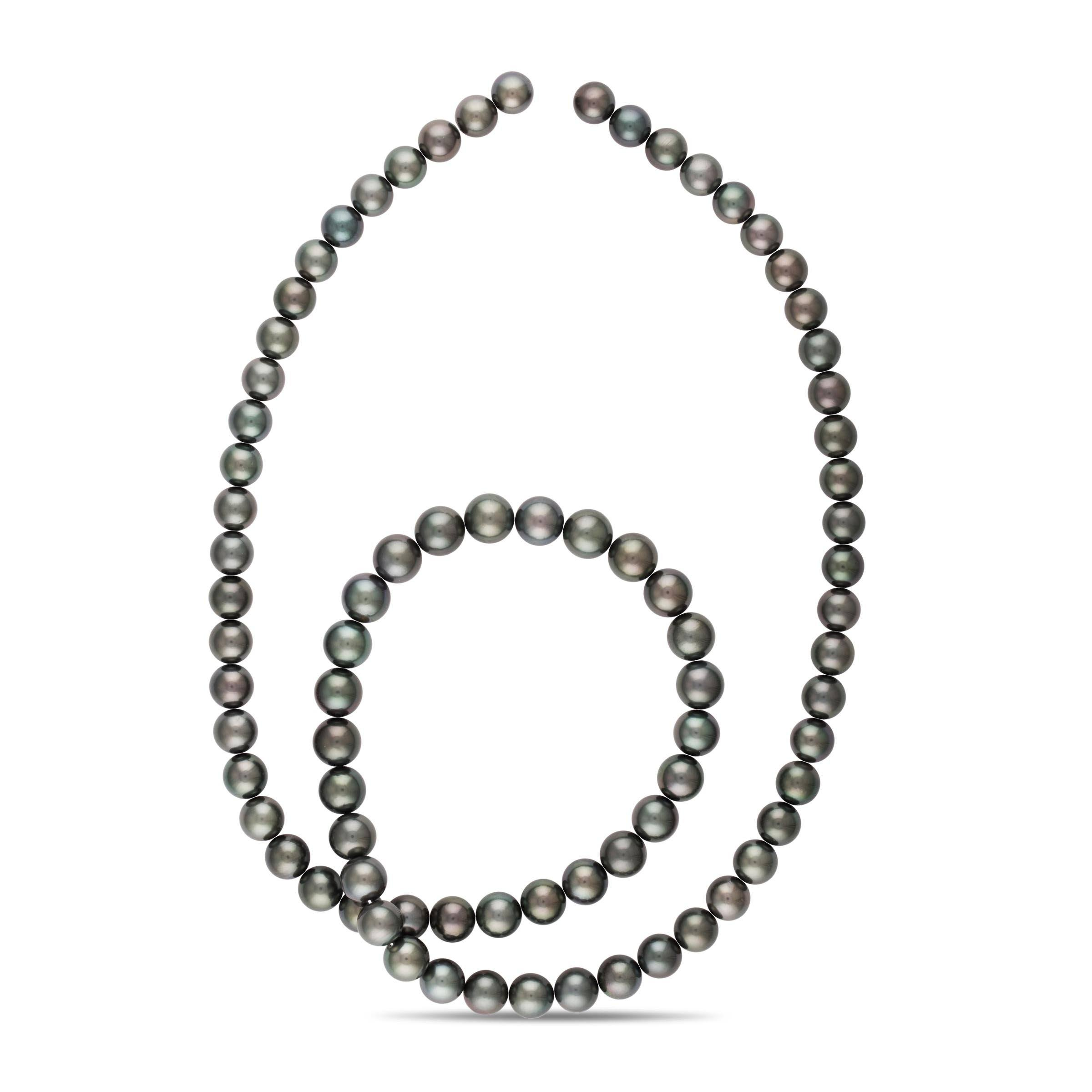 35-inch 10.0-11.7 mm AAA Round Tahitian Pearl Necklace