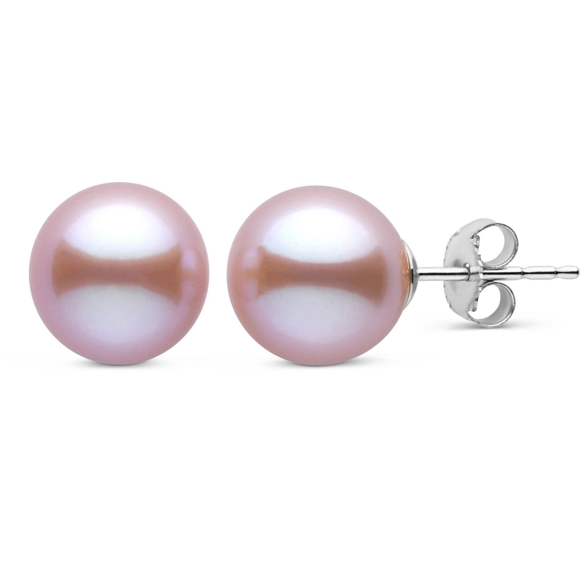 9.0-10.0 mm AAA Lavender Freshwater Pearl Stud Earrings