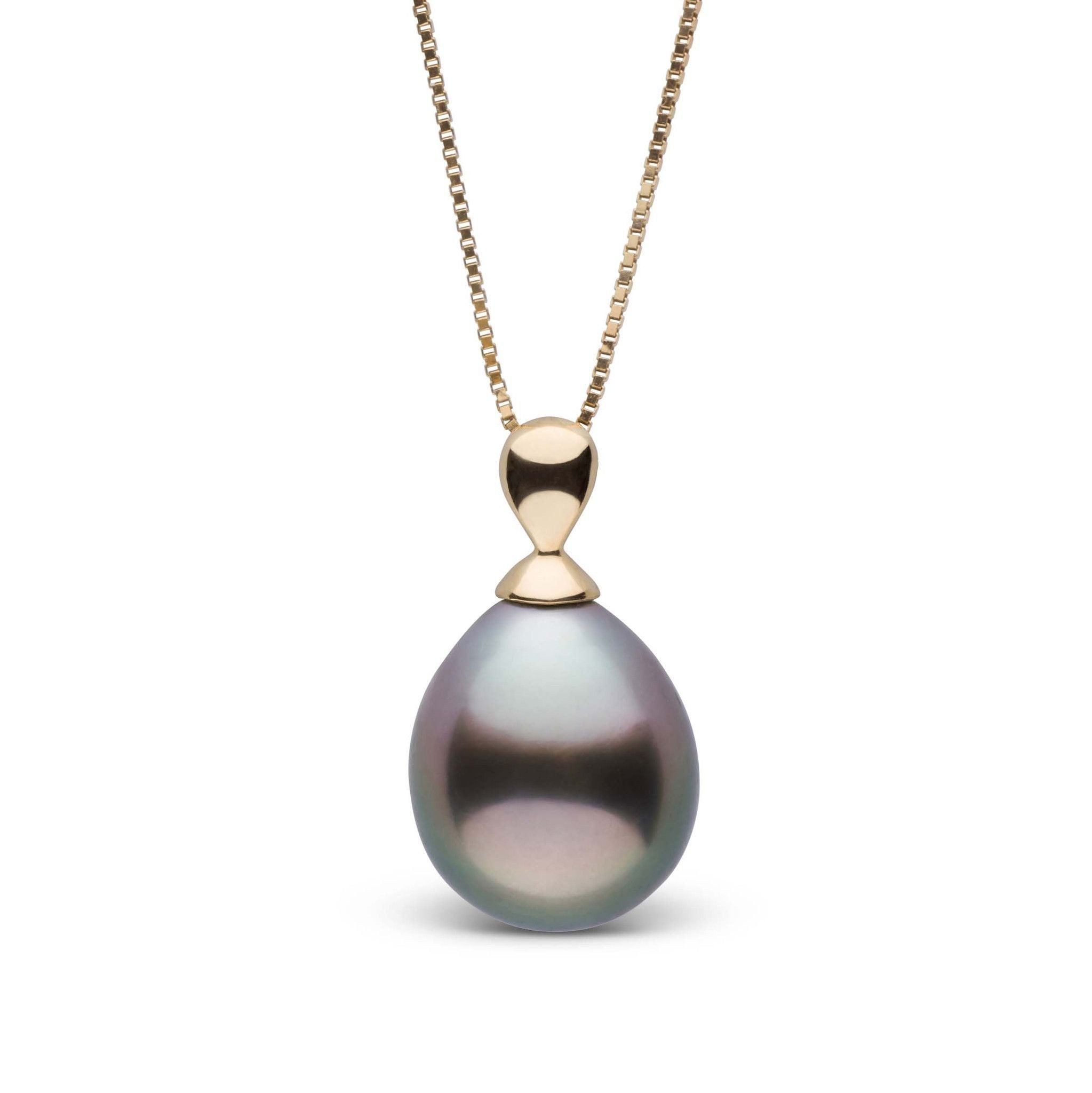9.0-10.0 mm Dew Collection Tahitian Drop Pearl Pendant