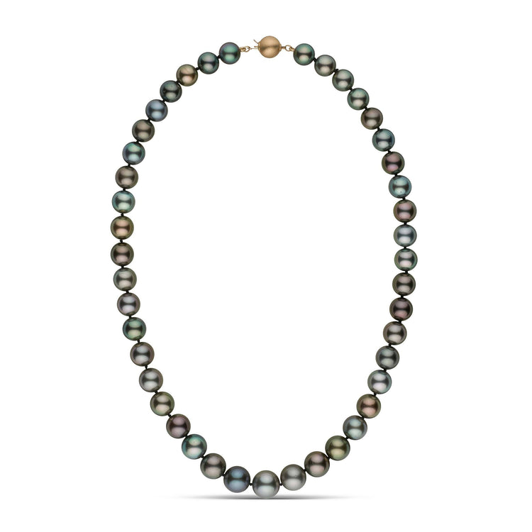 9.0-11.3 mm AA+/AAA Round Multicolor Tahitian Pearl Necklace