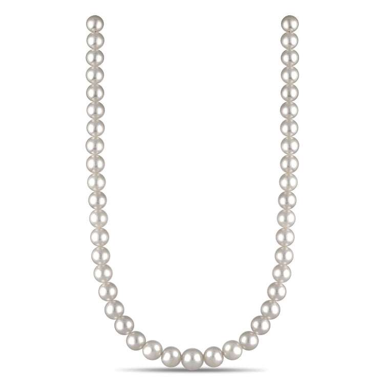 9.0-11.3 mm AA+/AAA Round White South Sea Necklace