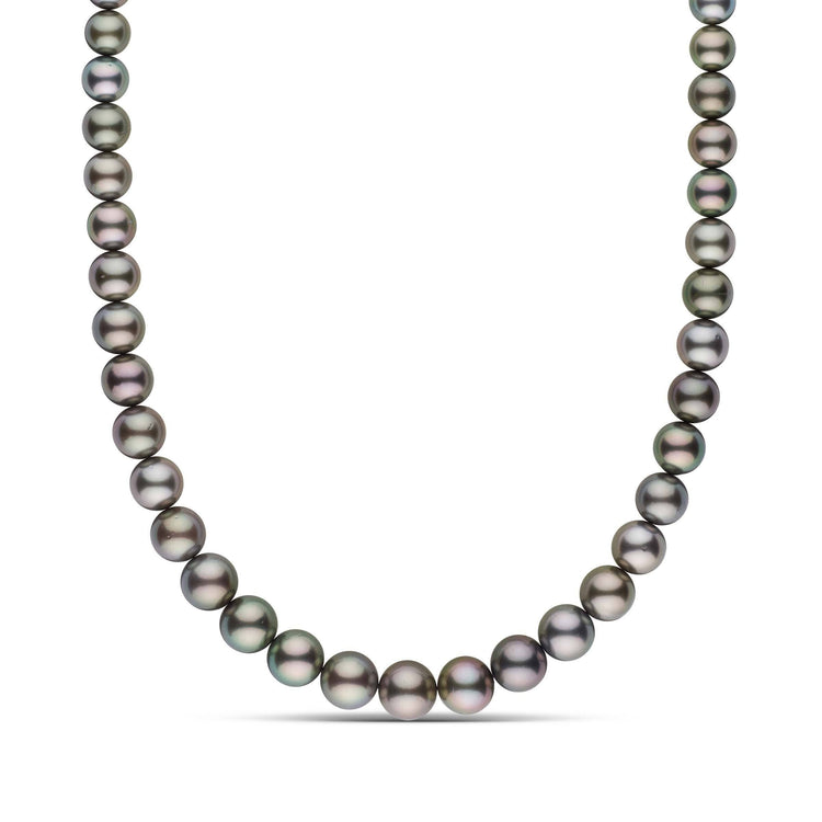 9.0-11.9 mm AA+ Round Tahitian Pearl Necklace