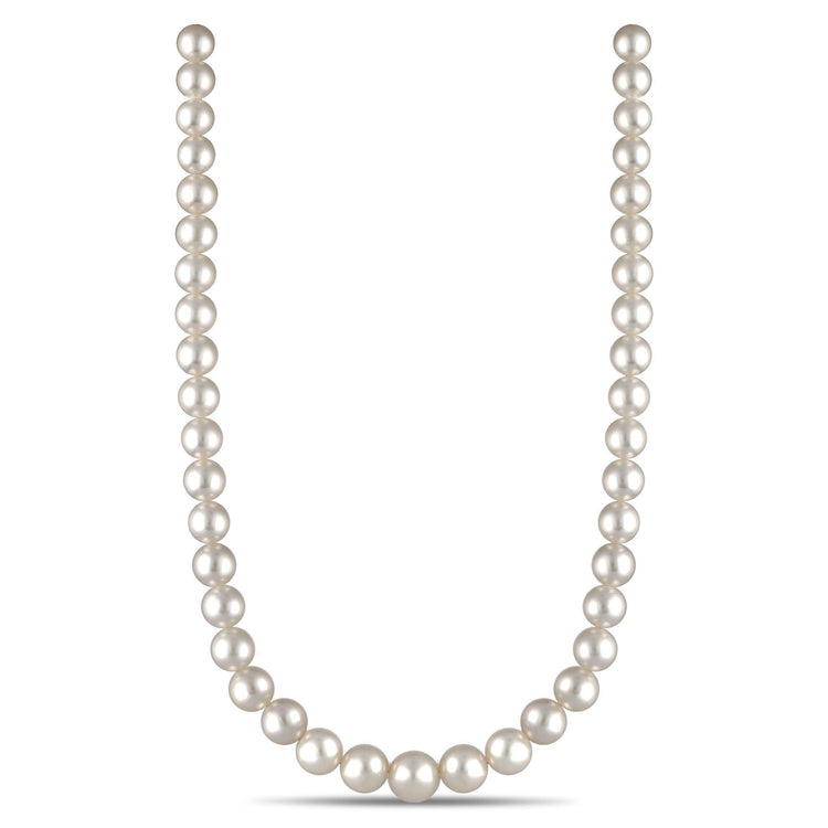 9.0-12.3 mm AA+/AAA Round White South Sea Necklace