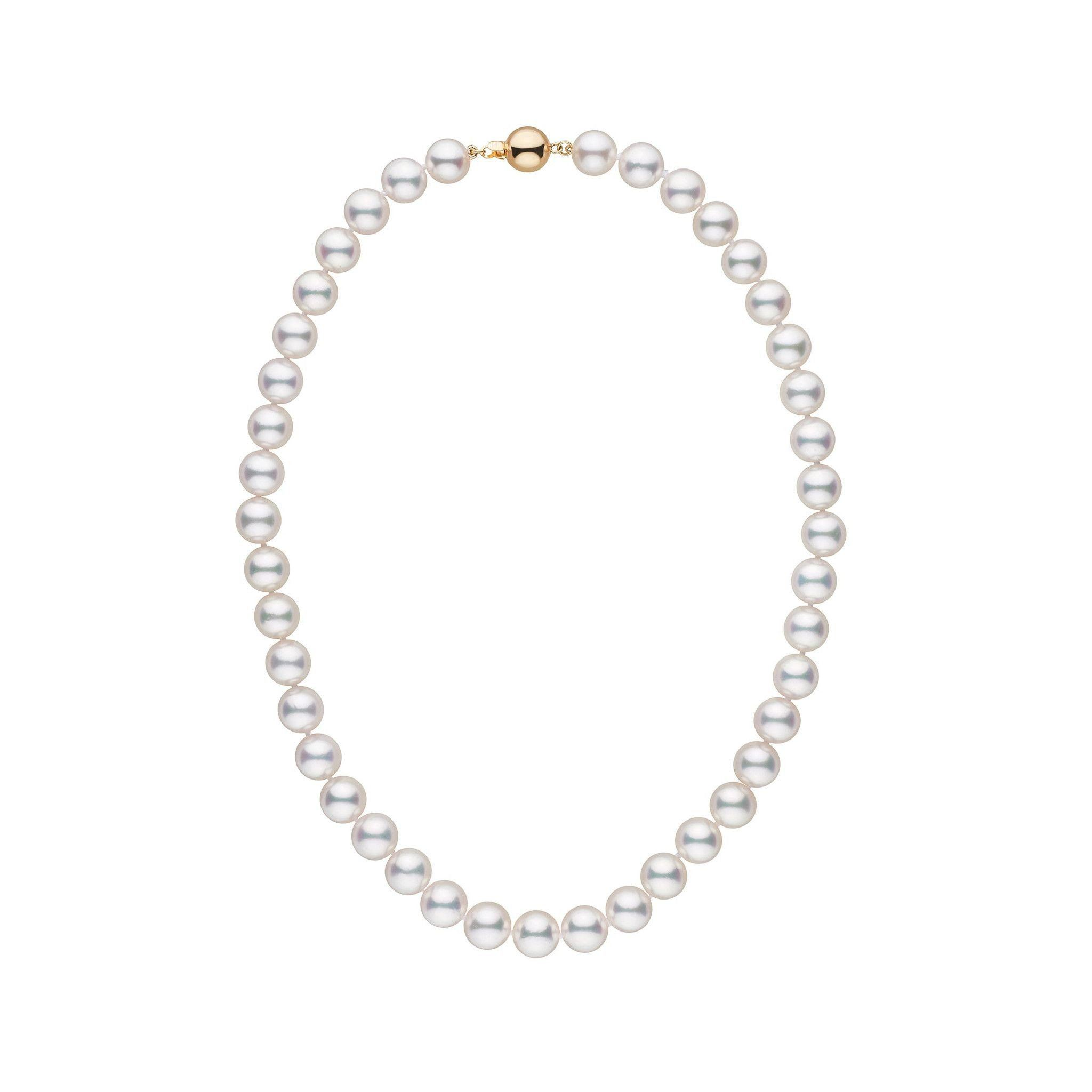 9.0-9.5 mm 16 Inch AAA White Akoya Pearl Necklace