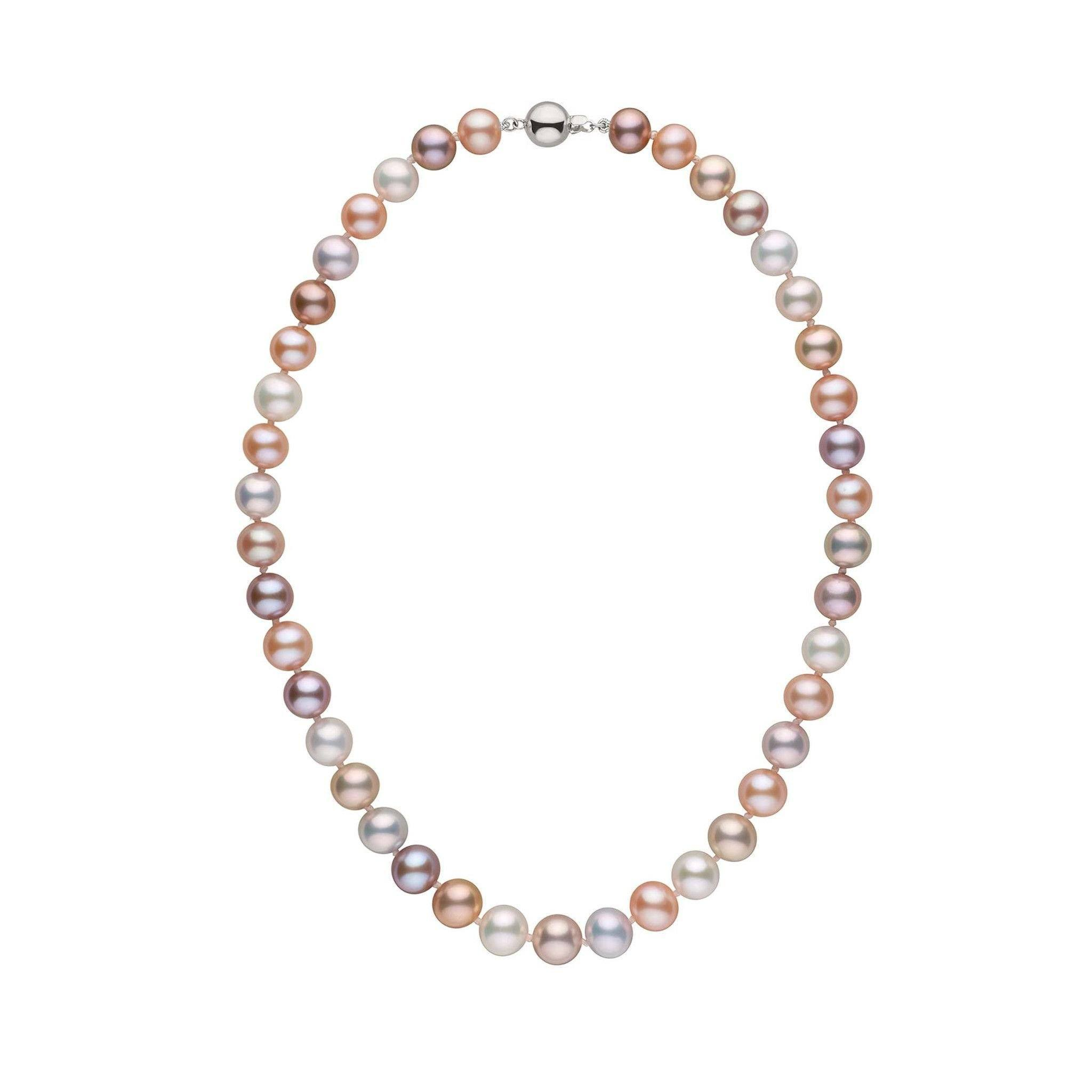 9.0-9.5 mm 16 Inch Multicolor Freshadama Freshwater Pearl Necklace