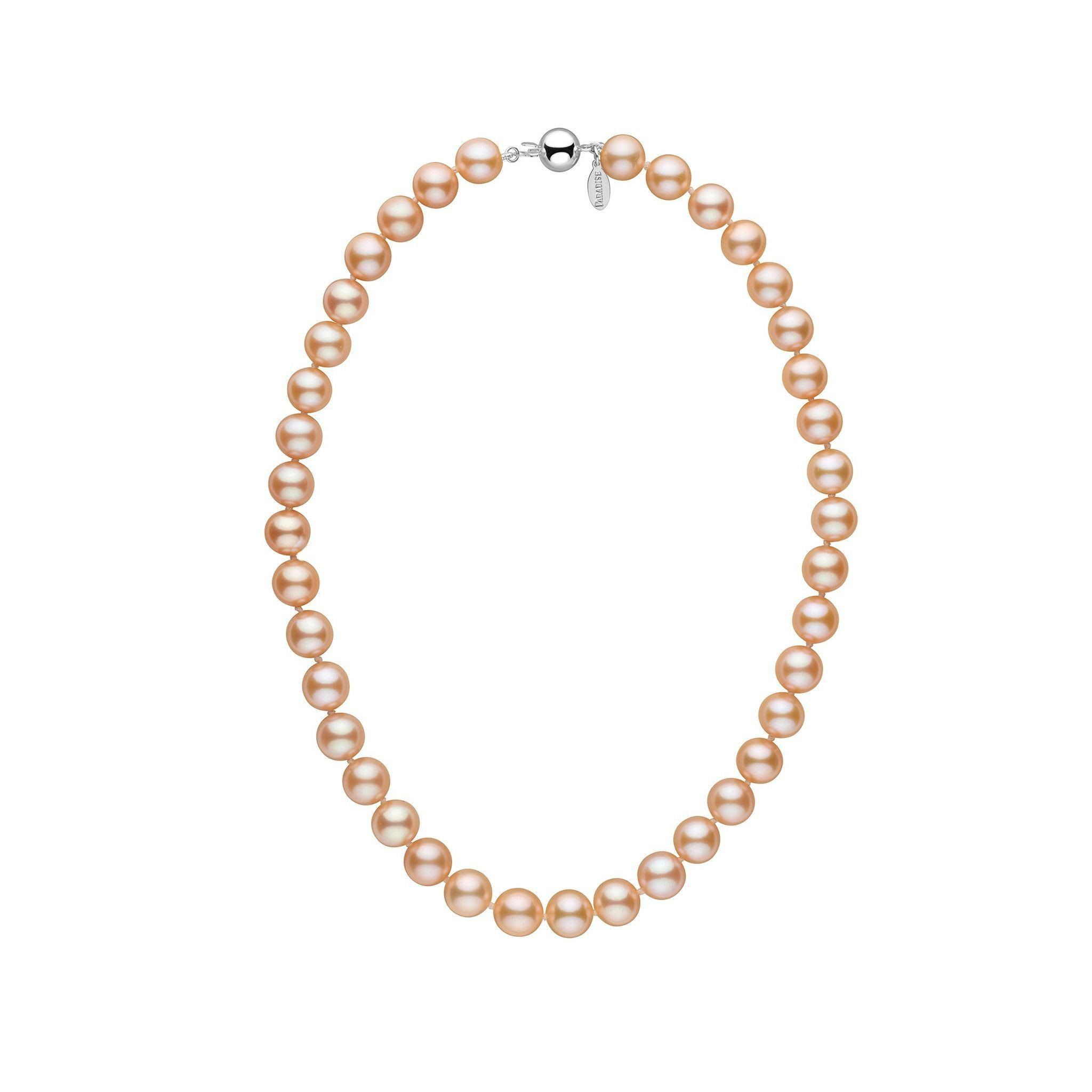 9.0-9.5 mm 16 Inch Pink to Peach Freshadama Freshwater Pearl Necklace