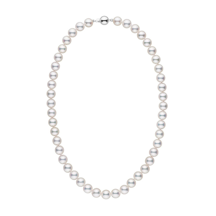 9.0-9.5 mm 18 Inch AAA White Akoya Pearl Necklace