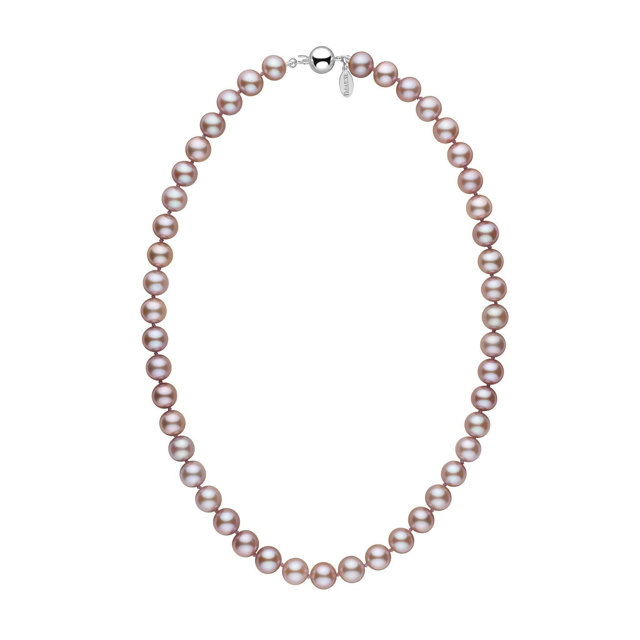 9.0-9.5 mm 18 Inch Lavender Freshadama Freshwater Pearl Necklace