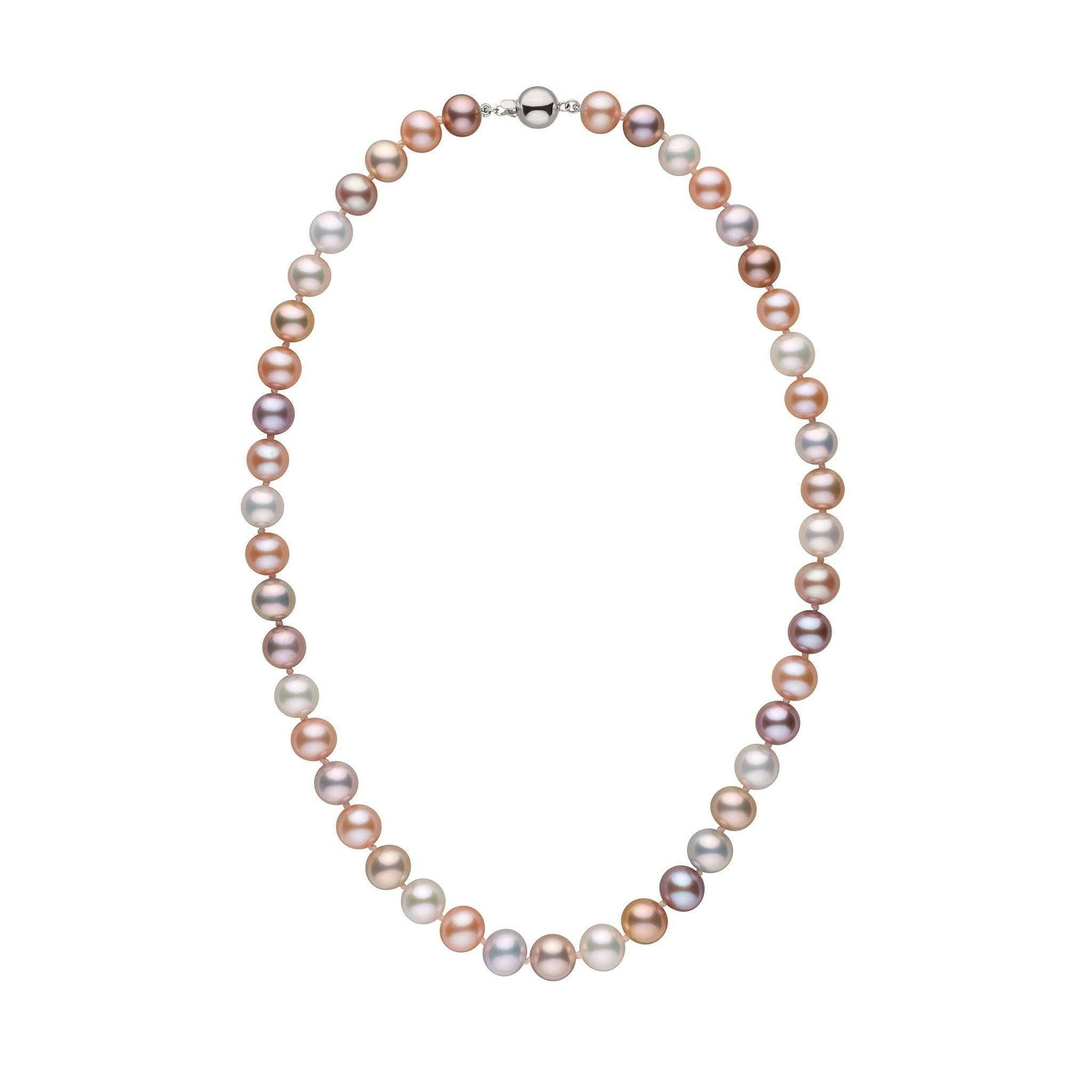 9.0-9.5 mm 18 Inch Multicolor Freshadama Freshwater Pearl Necklace