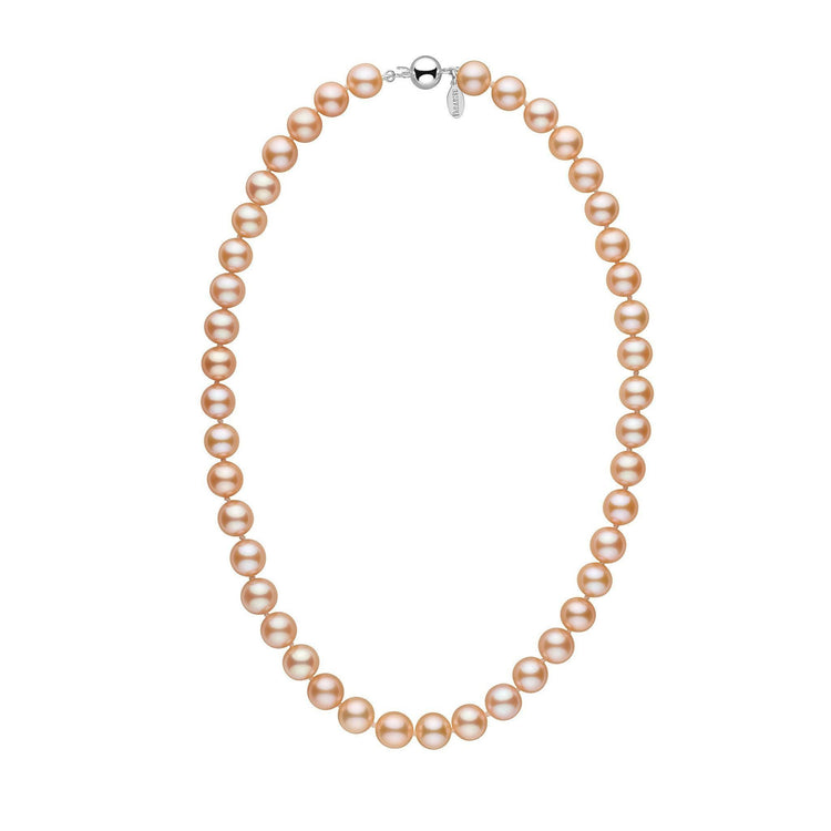 9.0-9.5 mm 18 Inch Pink to Peach Freshadama Freshwater Pearl Necklace