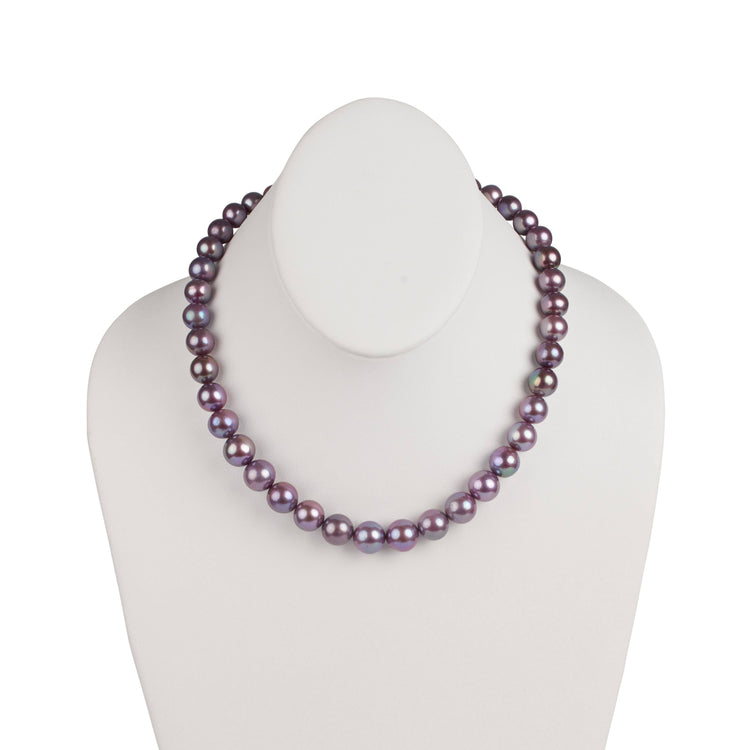 9.09-11.94 mm Limited Release Purple Metallic Edison Freshwater Necklace