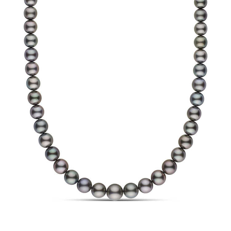 9.1-11.9 mm AA+ Round Tahitian Pearl Necklace