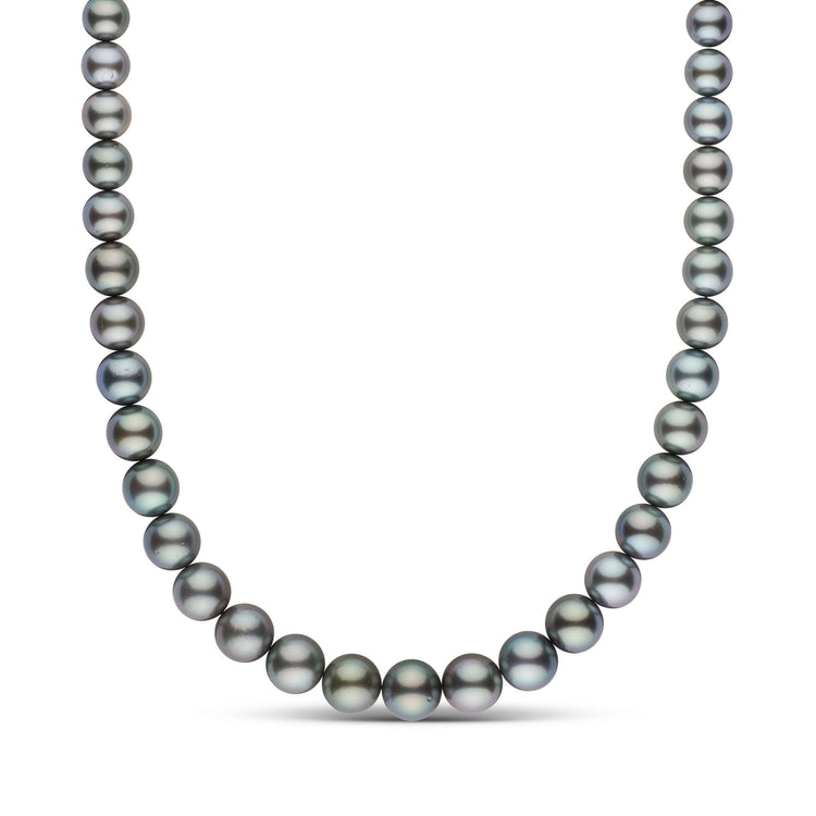 9.1-12.2 mm AA+ Round Tahitian Pearl Necklace