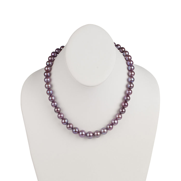 9.29-11.64 mm Limited Release Purple Metallic Edison Freshwater Necklace
