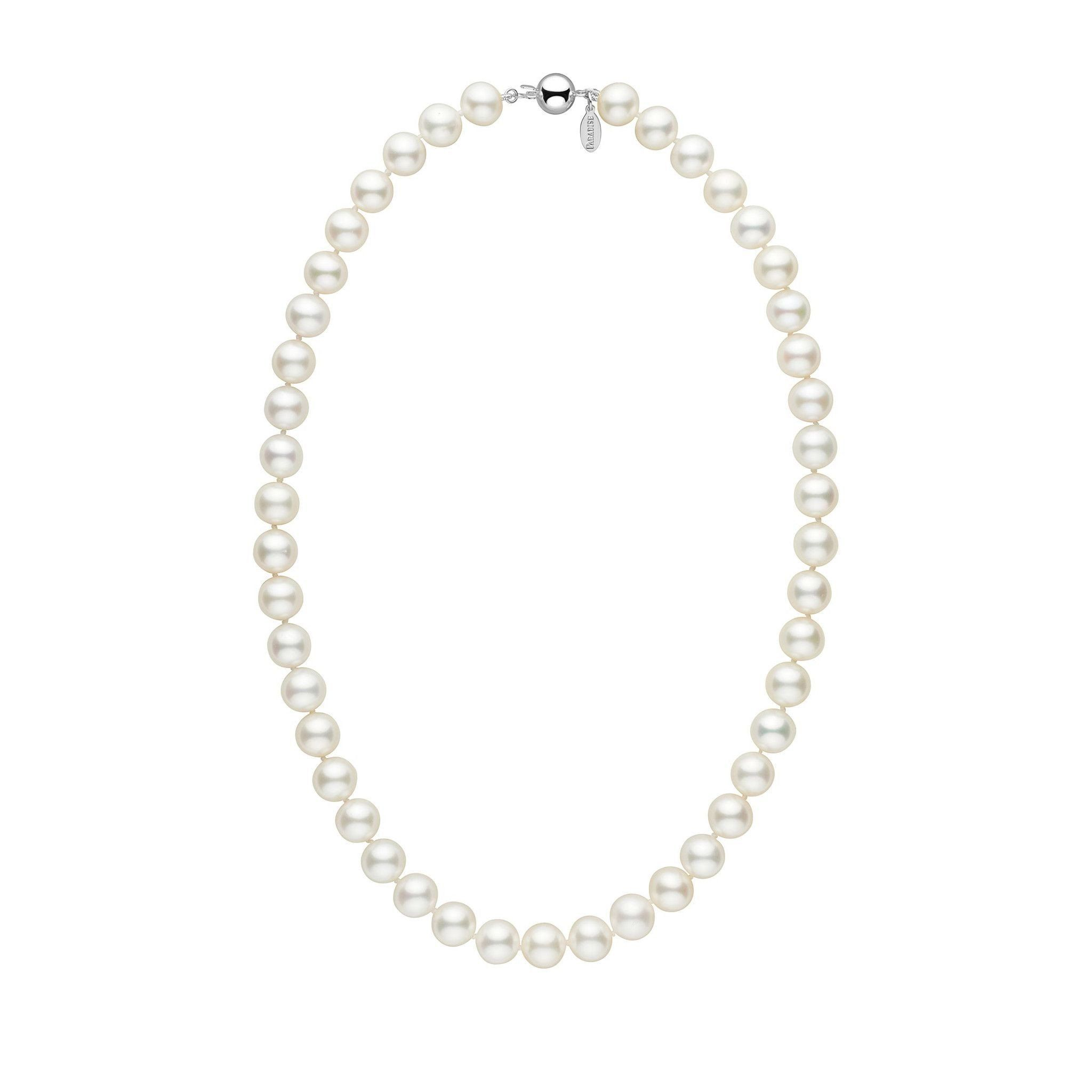 9.5-10.5 mm 18 Inch White Freshadama Freshwater Pearl Necklace