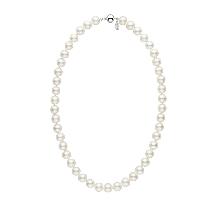 9.5-10.0 mm 18 Inch White Freshadama Freshwater Pearl Necklace