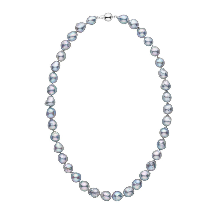 9.5-10.0 mm Blue Akoya Baroque Pearl Necklace