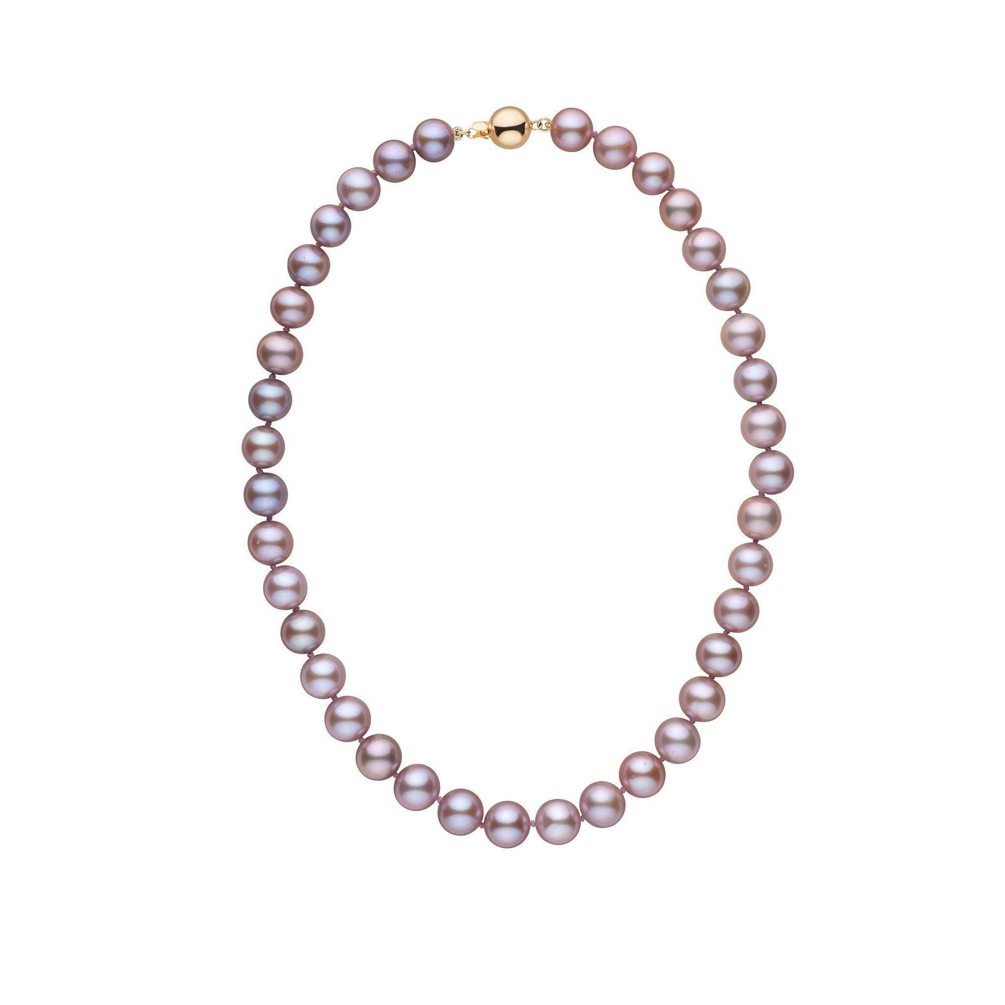 9.5-10.5 mm 16 Inch AA+ Lavender Freshwater Pearl Necklace