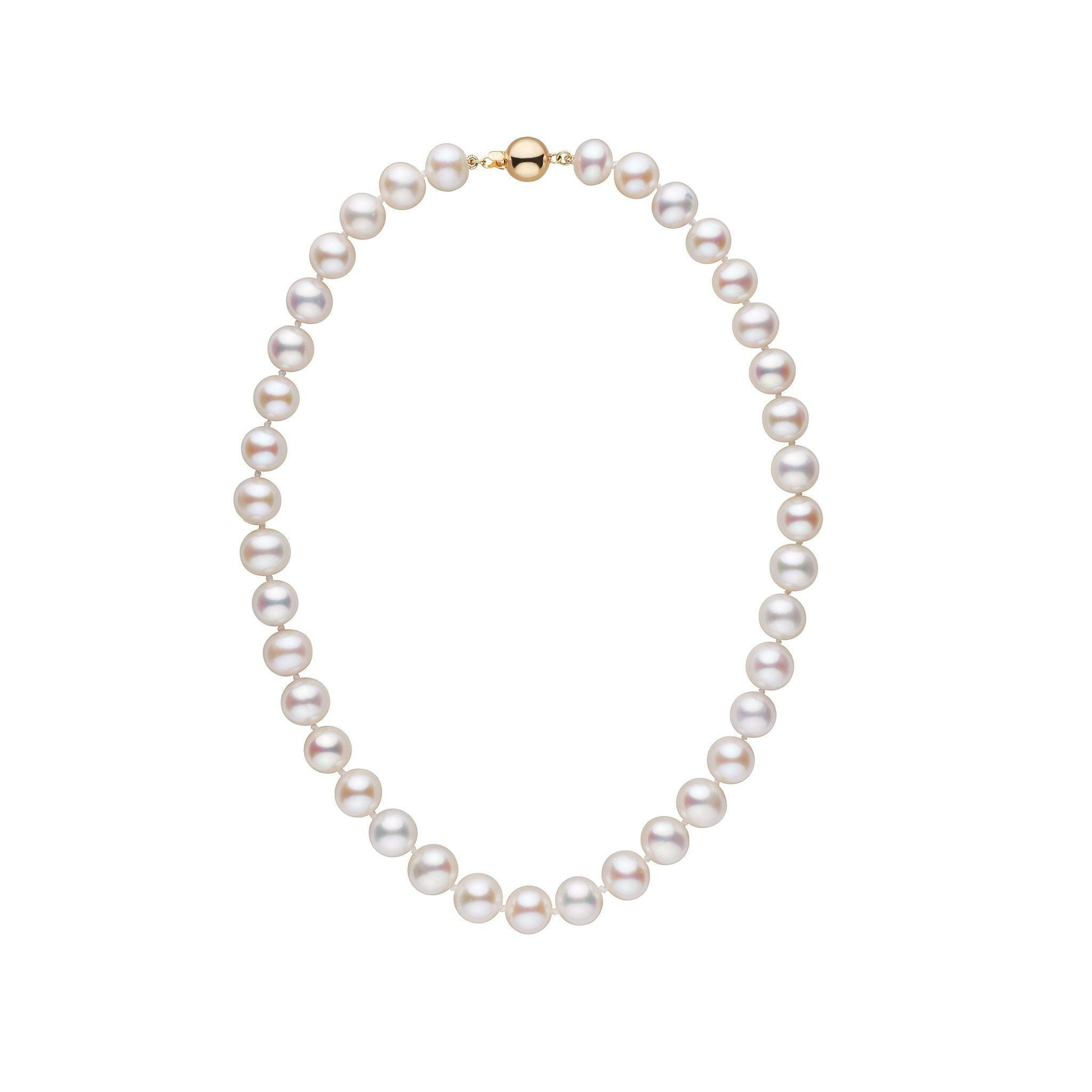 9.5-10.5 mm 16 inch AA+ White Freshwater Pearl Necklace