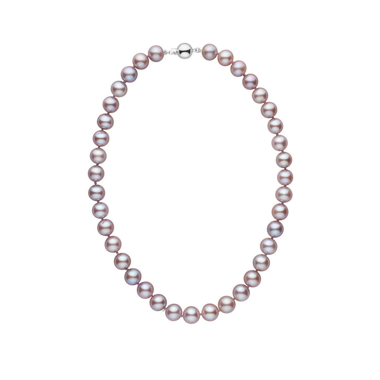 9.5-10.5 mm 16 Inch AAA Lavender Freshwater Pearl Necklace