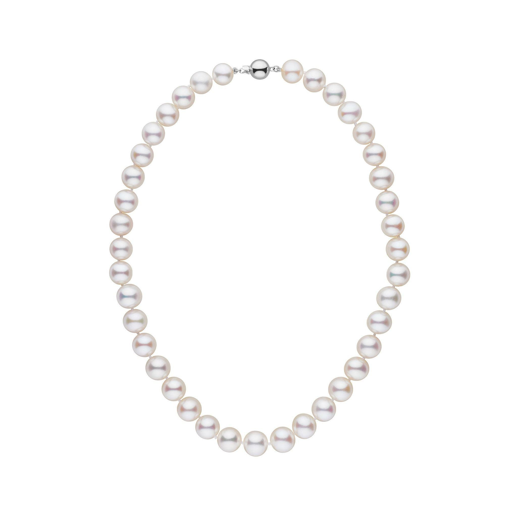 9.5-10.5 mm 16 inch AAA White Freshwater Pearl Necklace